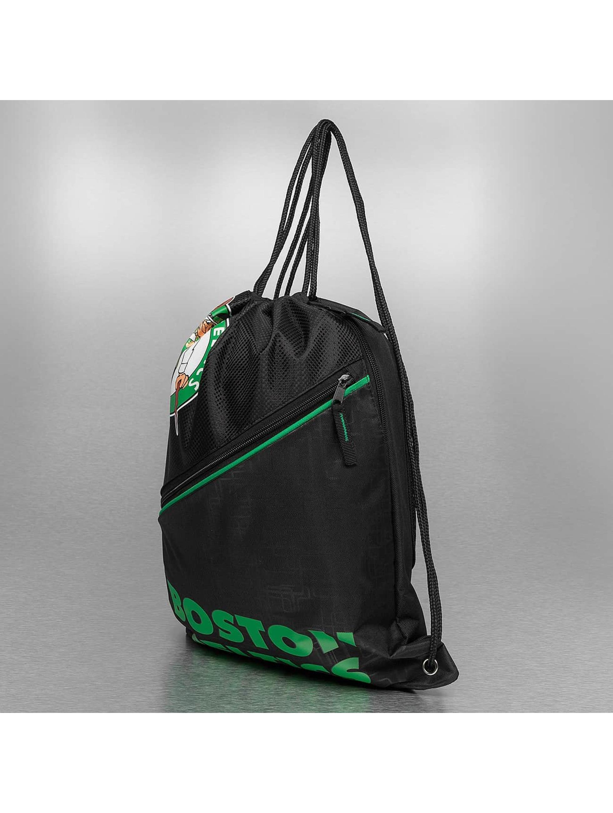 Forever Collectibles Pouch NBA Diagonal Zip Drawstring Boston Celtics black