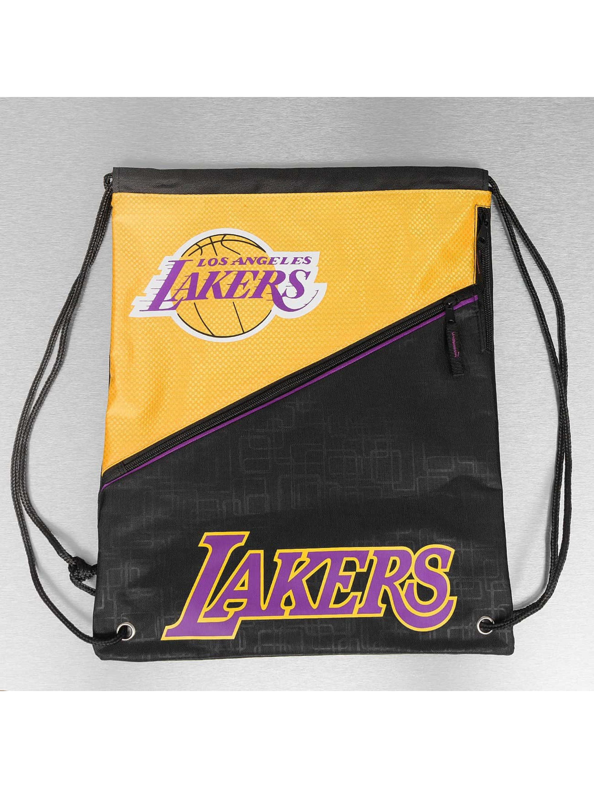 Forever Collectibles Pouch NBA Diagonal Zip Drawstring LA Lakers black