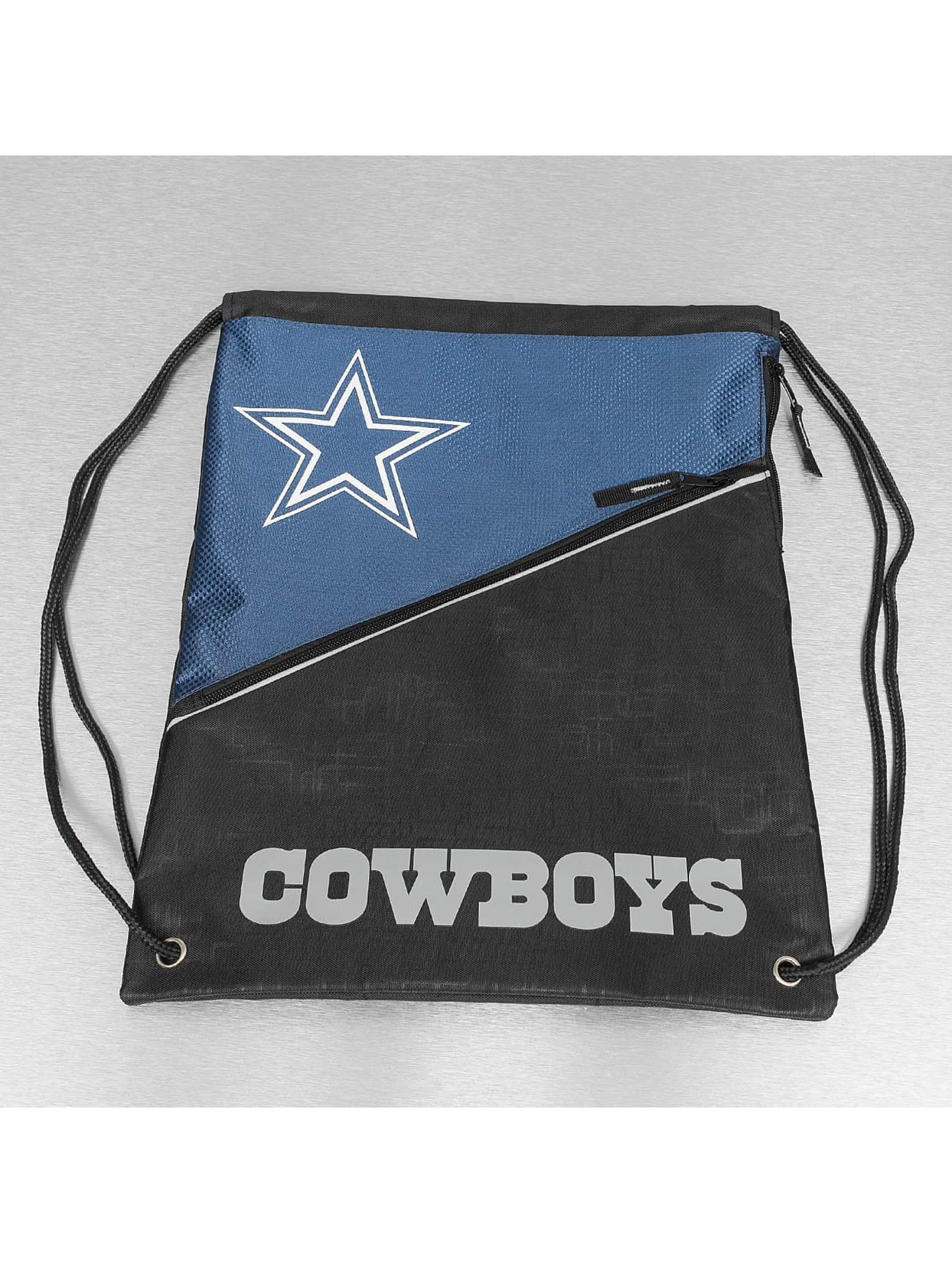 Forever Collectibles Pouch NFL Diagonal Zip Drawstring Dallas Cowboys black