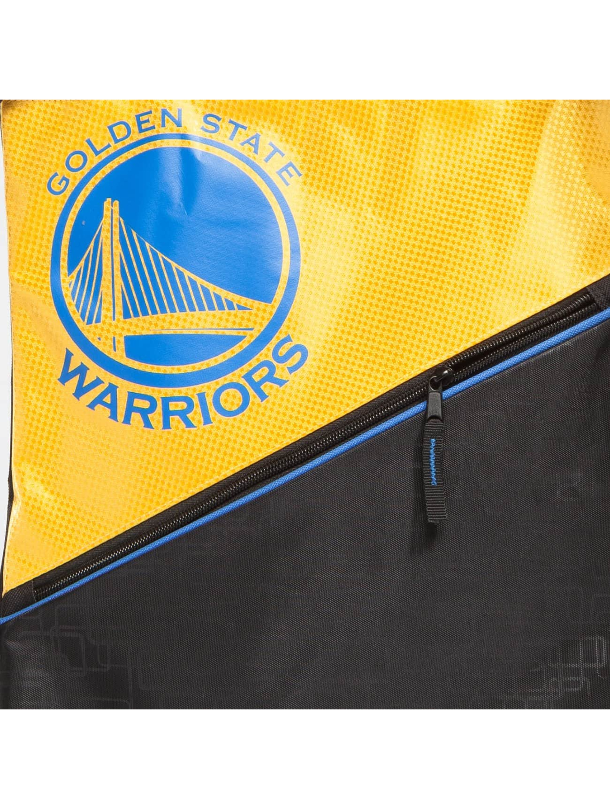 Forever Collectibles Pouch NBA Diagonal Zip Drawstring Warriors black
