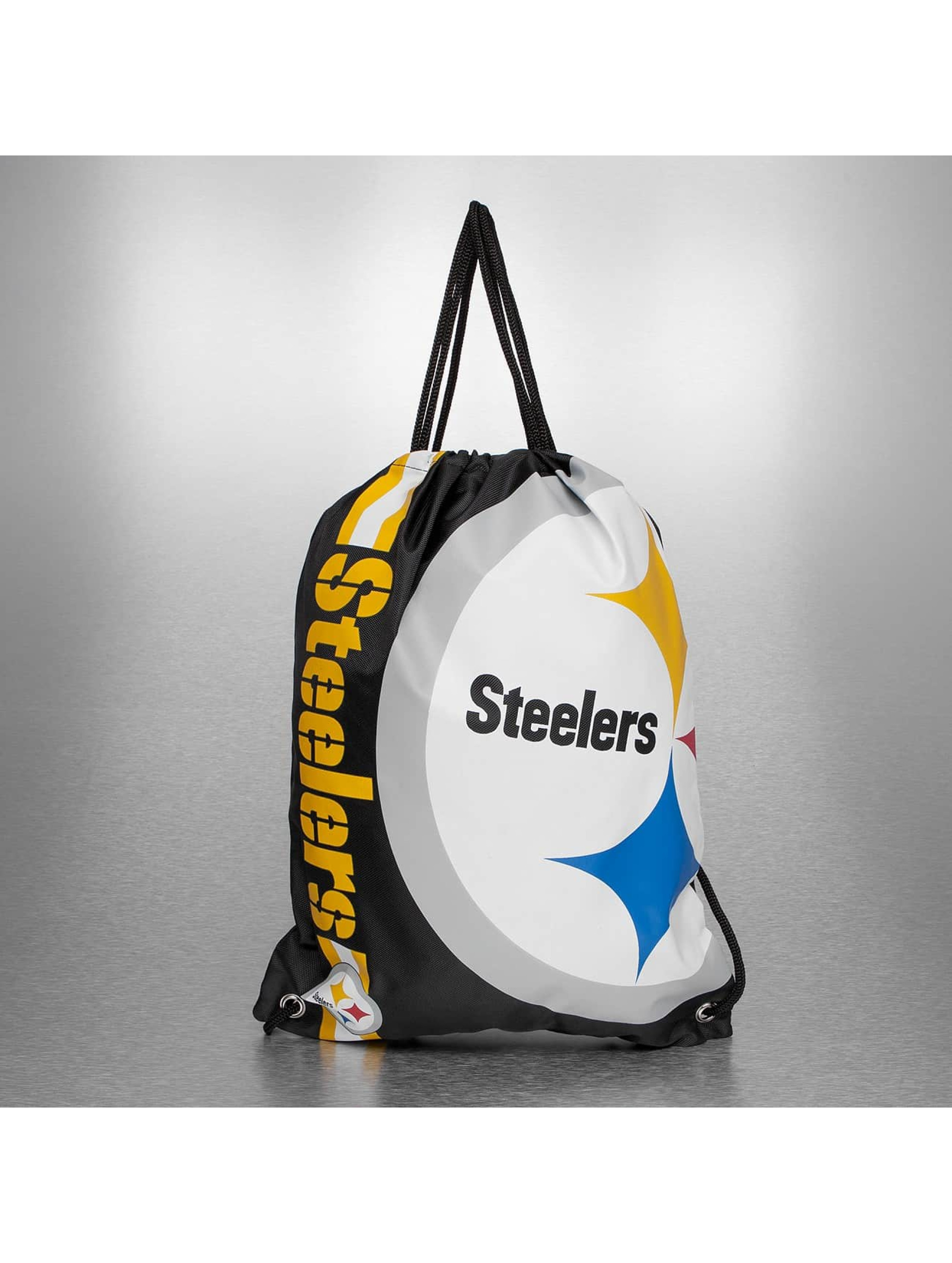 Forever Collectibles Sac à cordons NFL Cropped Logo Pittsburgh Stealers noir