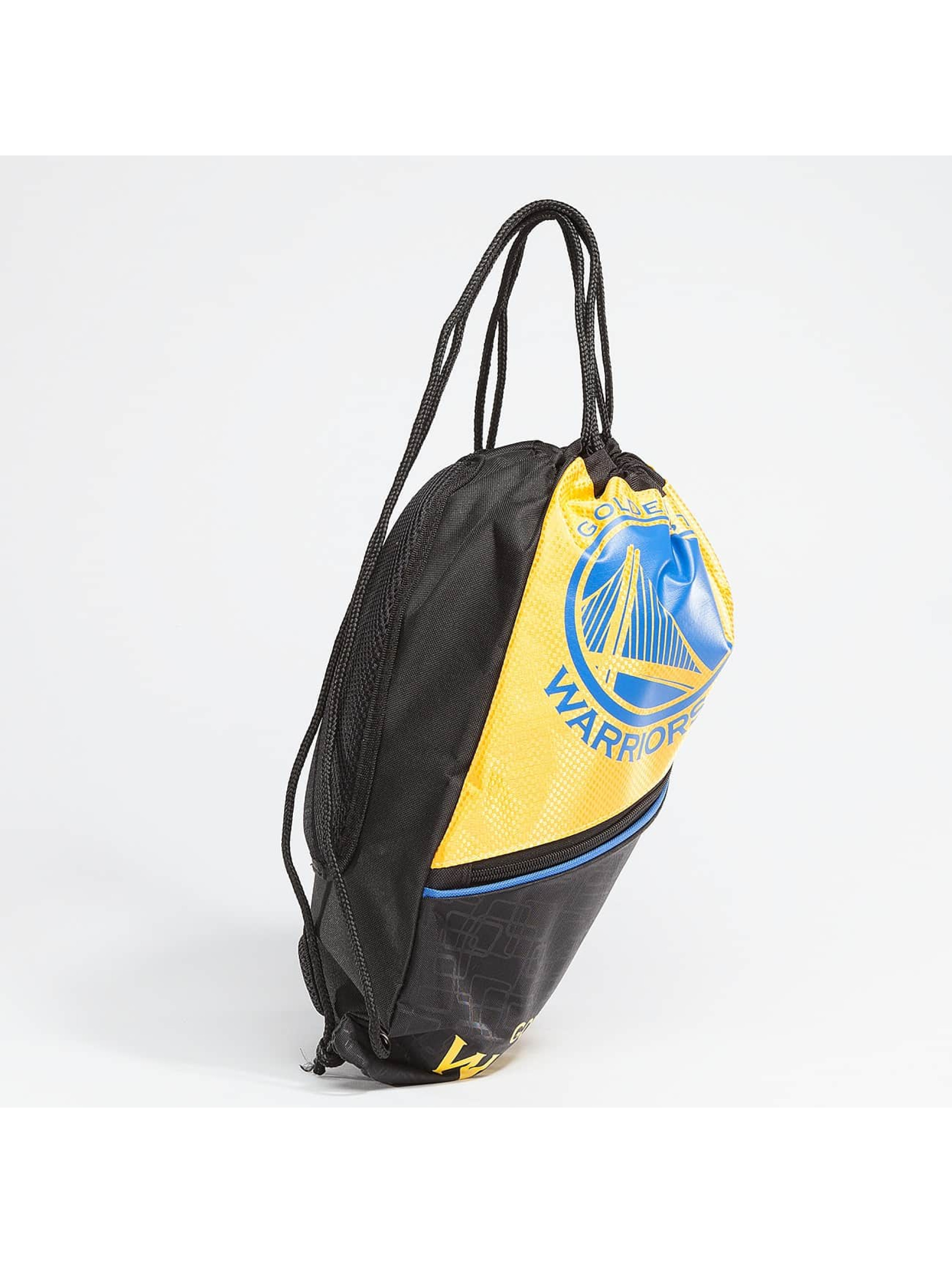 Forever Collectibles Sac à cordons NBA Diagonal Zip Drawstring Warriors noir