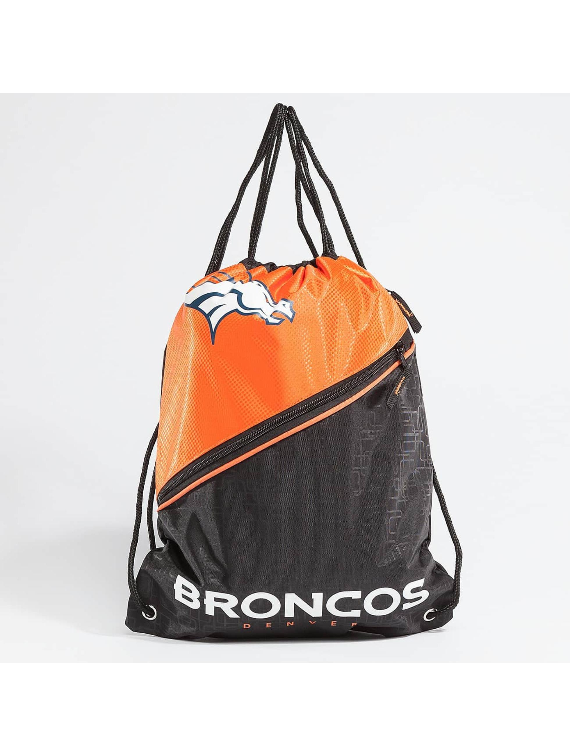 Forever Collectibles Sac à cordons NFL Diagonal Zip Drawstring Broncos noir