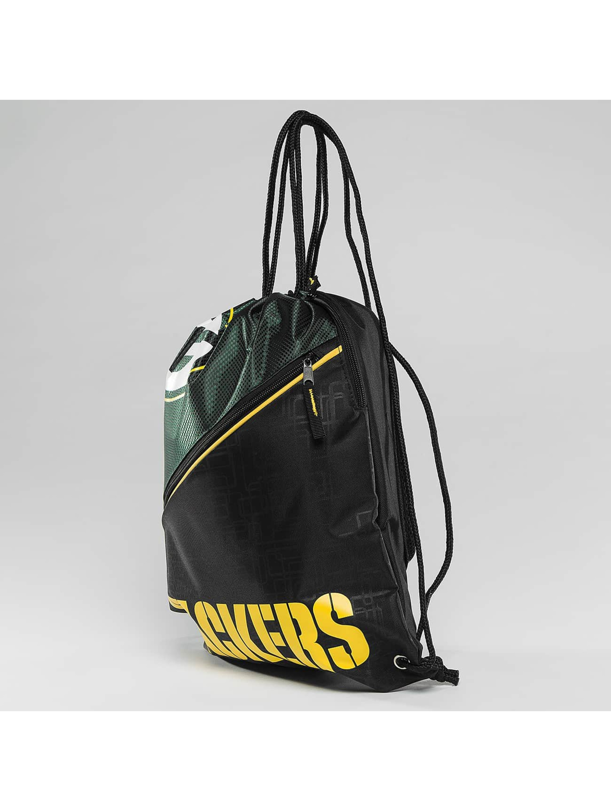 Forever Collectibles Sac à cordons NFL Diagonal Zip Drawstring Green Bay Packers noir