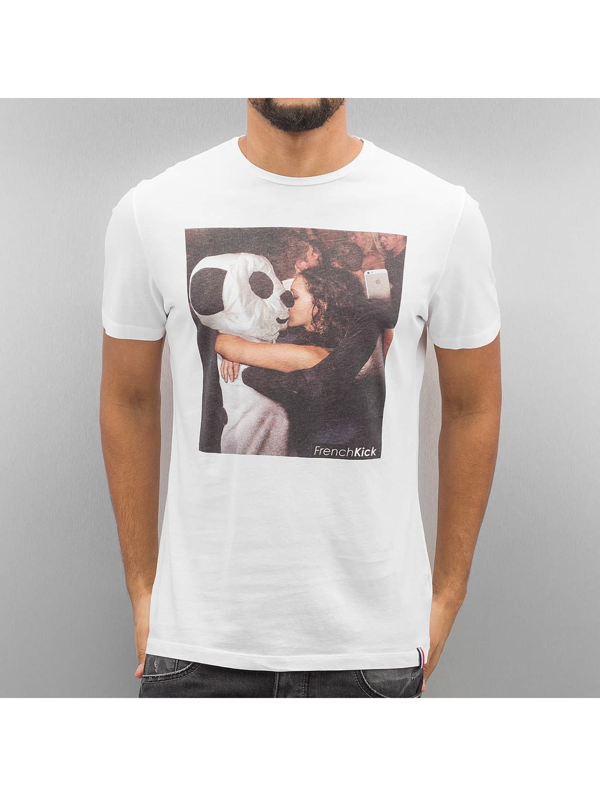 French Kick T-Shirt Phone Love white