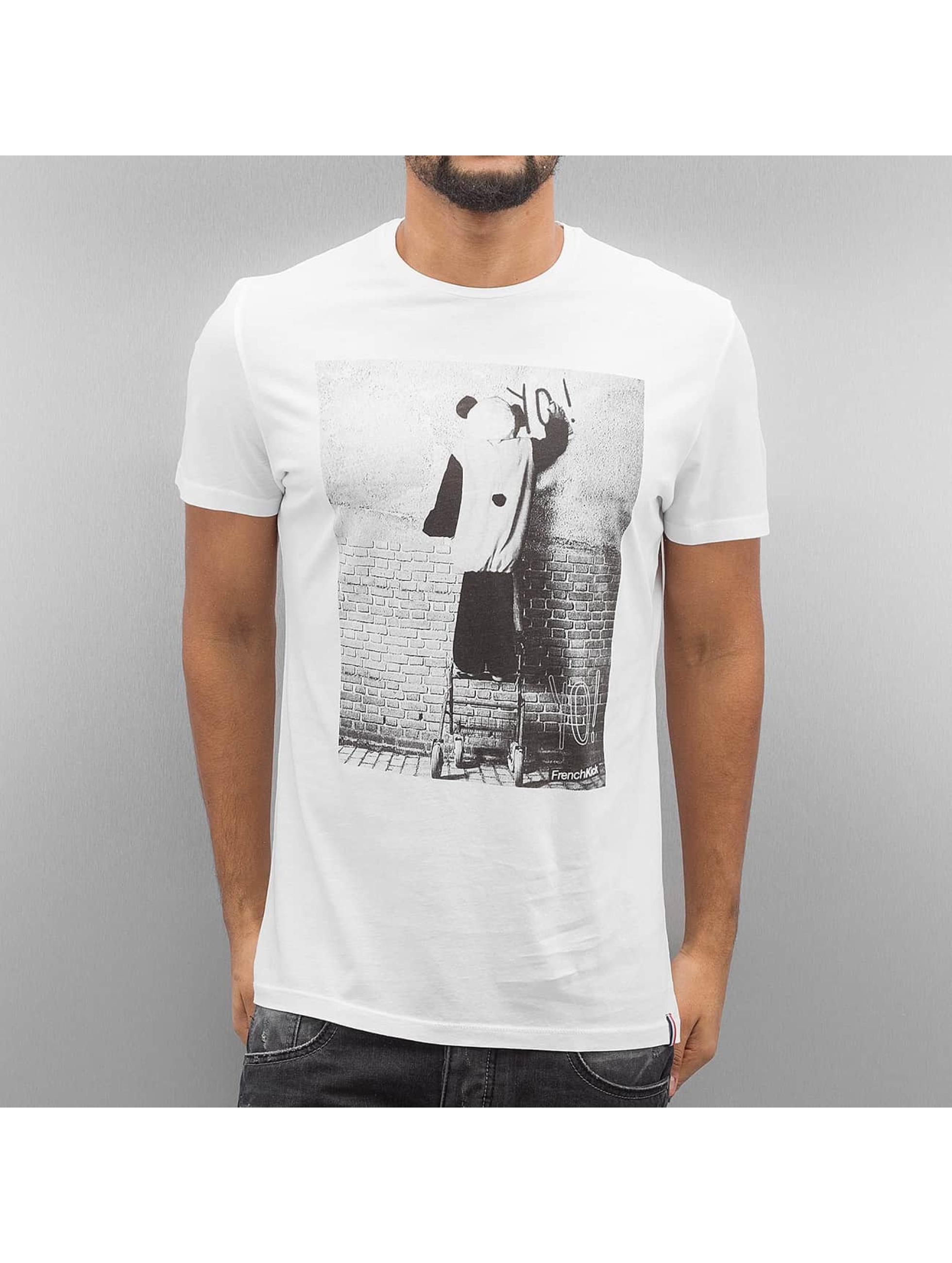 French Kick T-Shirt Yo Yo white