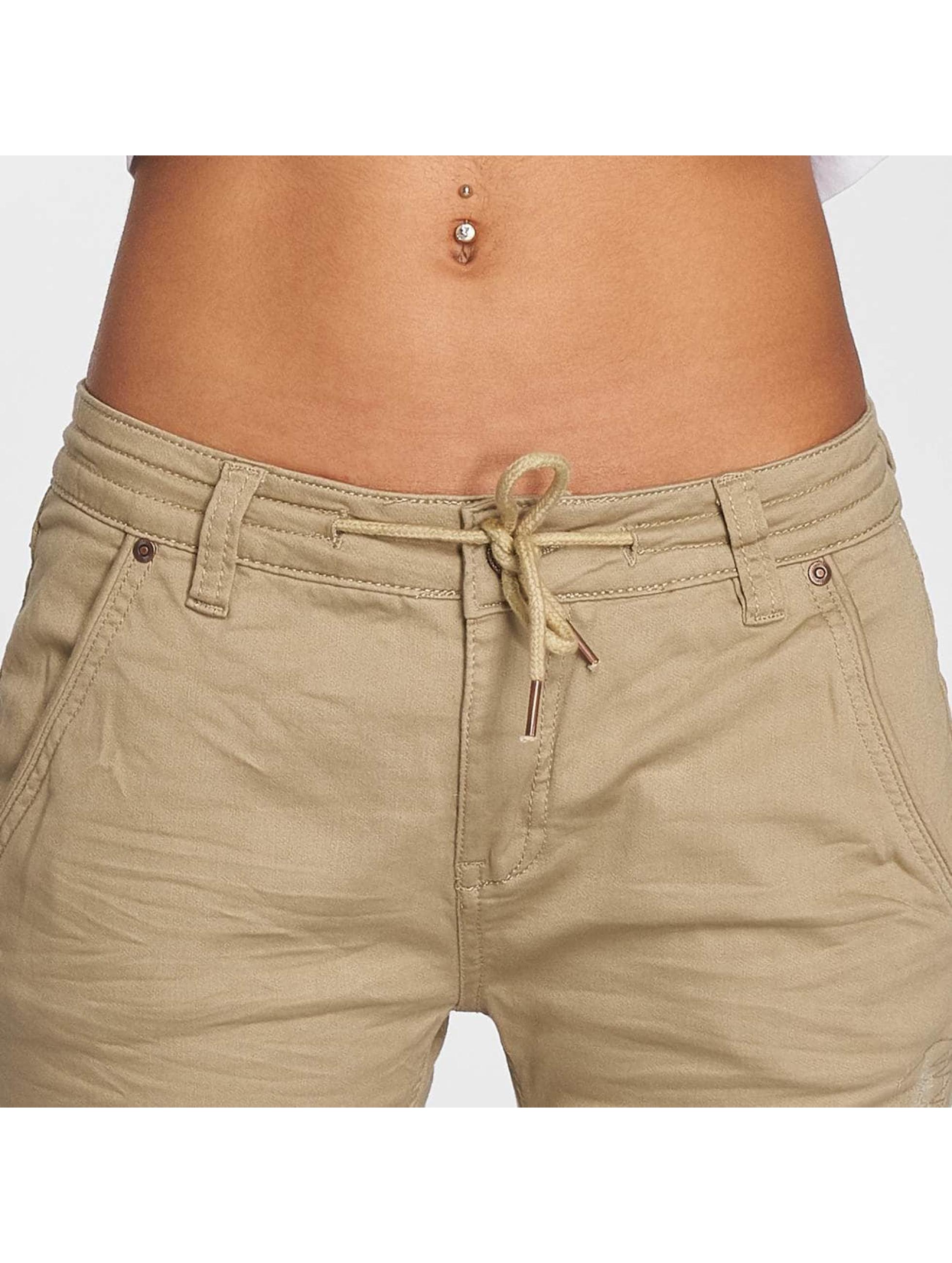 Fresh Made Spodnie do joggingu Capri Jogg bezowy