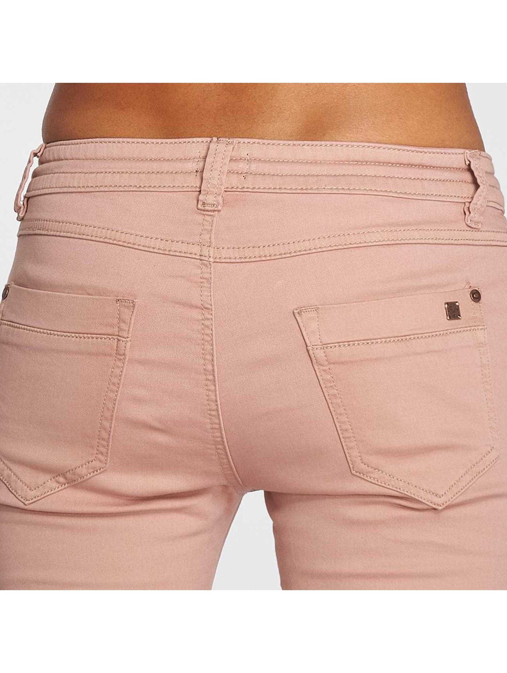 Fresh Made Spodnie do joggingu Capri Jogg rózowy