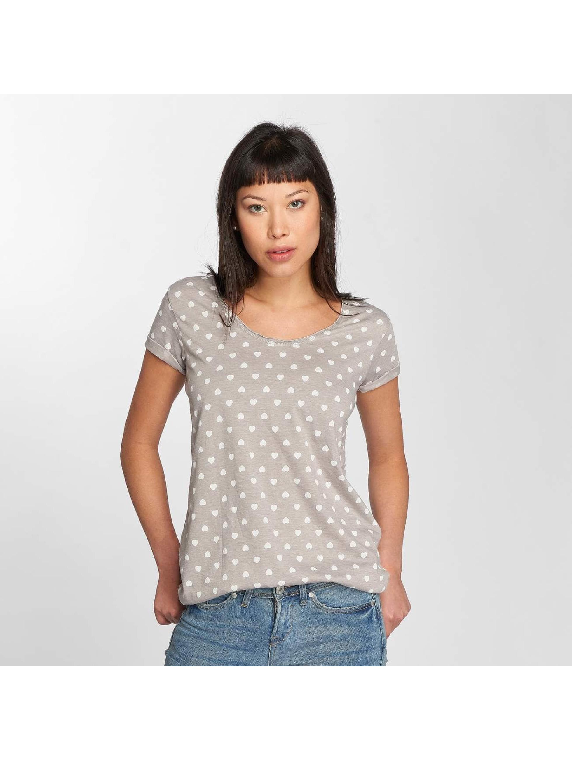 Fresh Made T-Shirt Hearts gris