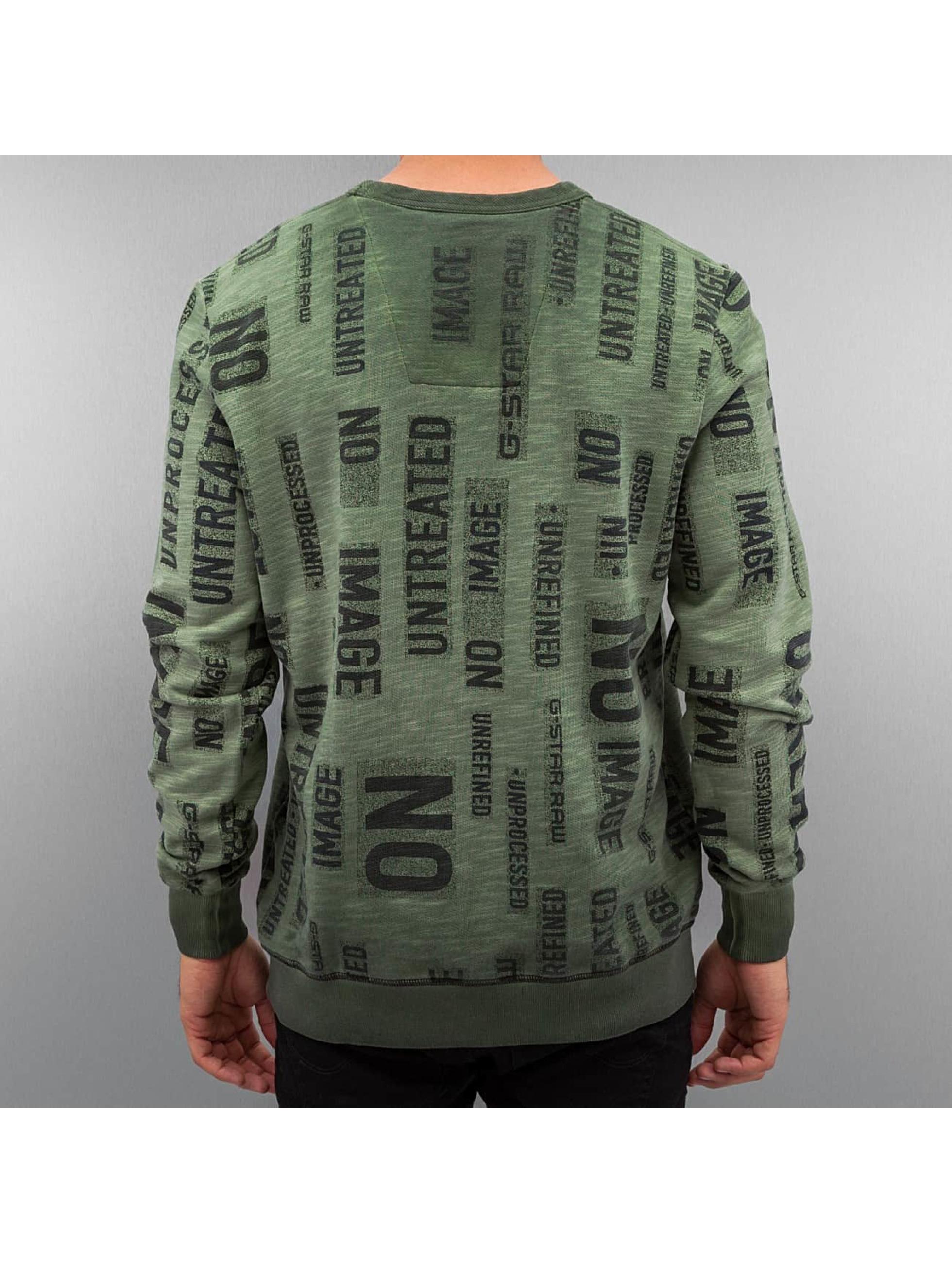 G-Star Пуловер Letu зеленый