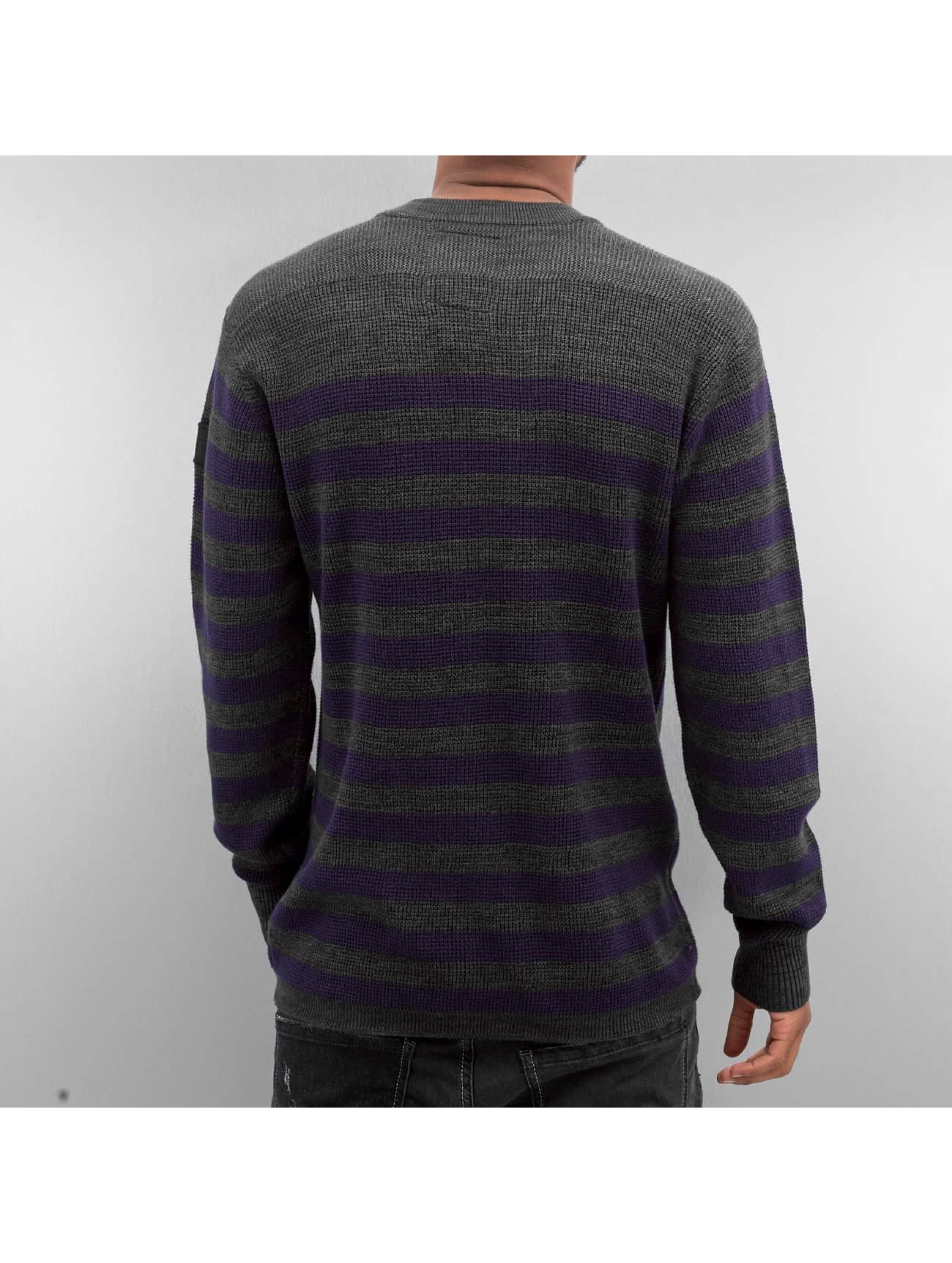 G-Star Пуловер Dadin Stripe Knit серый