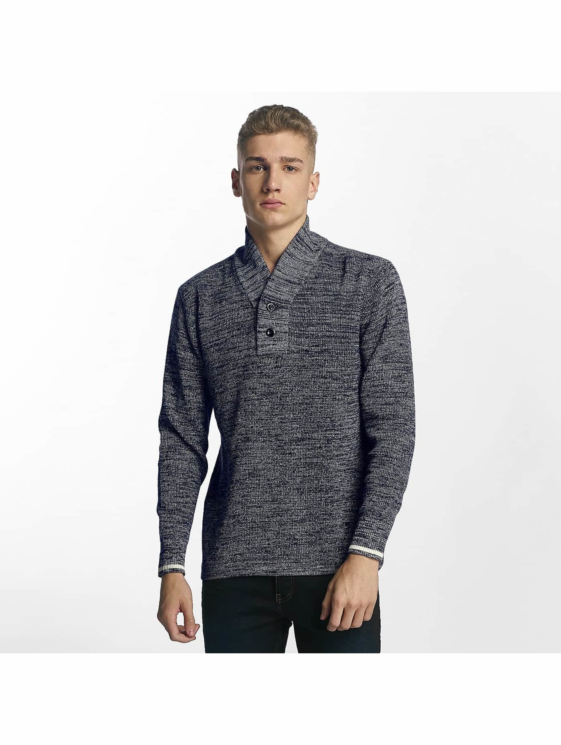 G-Star Pullover Dadin Shawl Collar blue