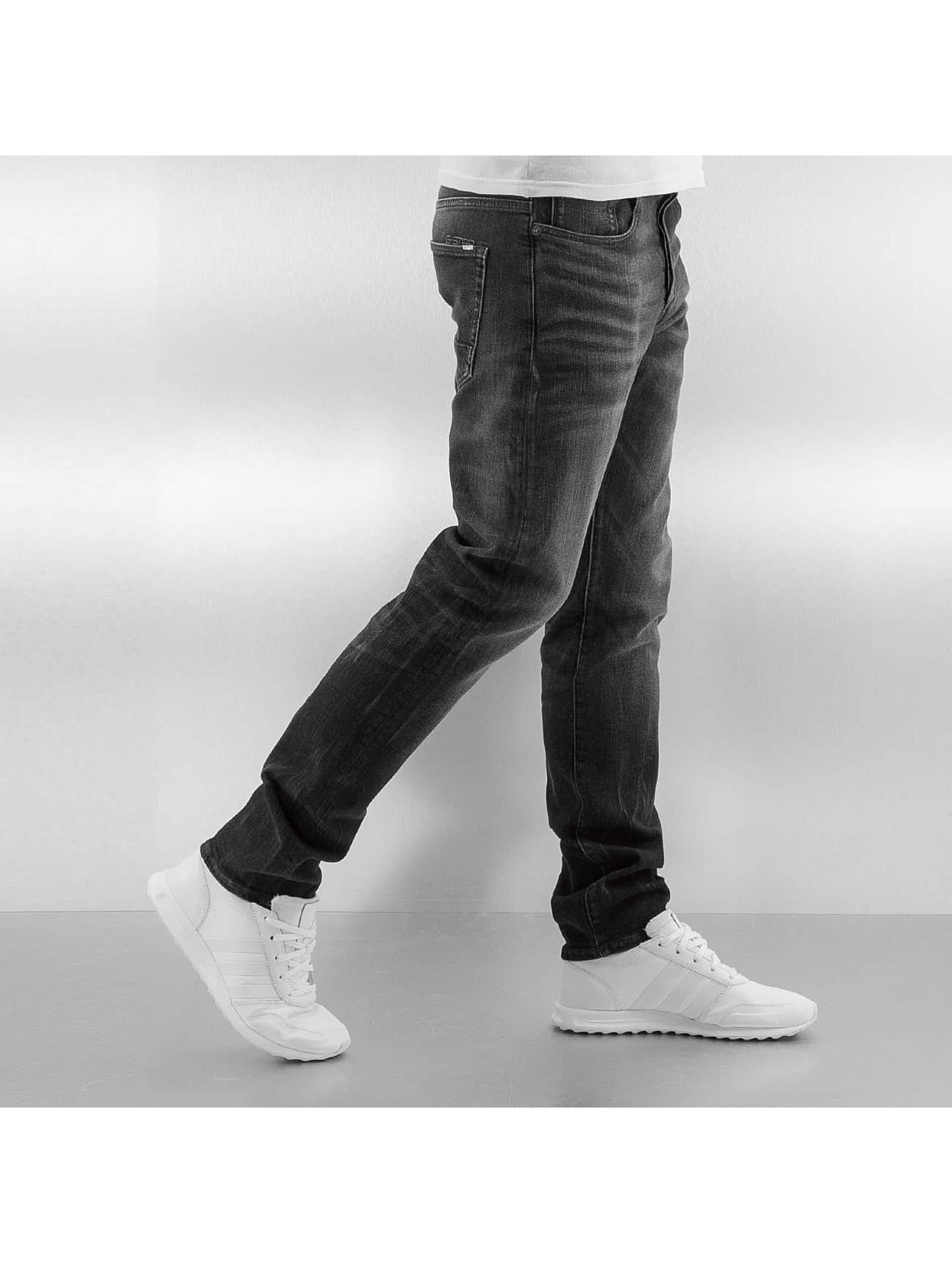 G-Star Skinny Jeans 3301 Slim Skop Black Strech Denim grau