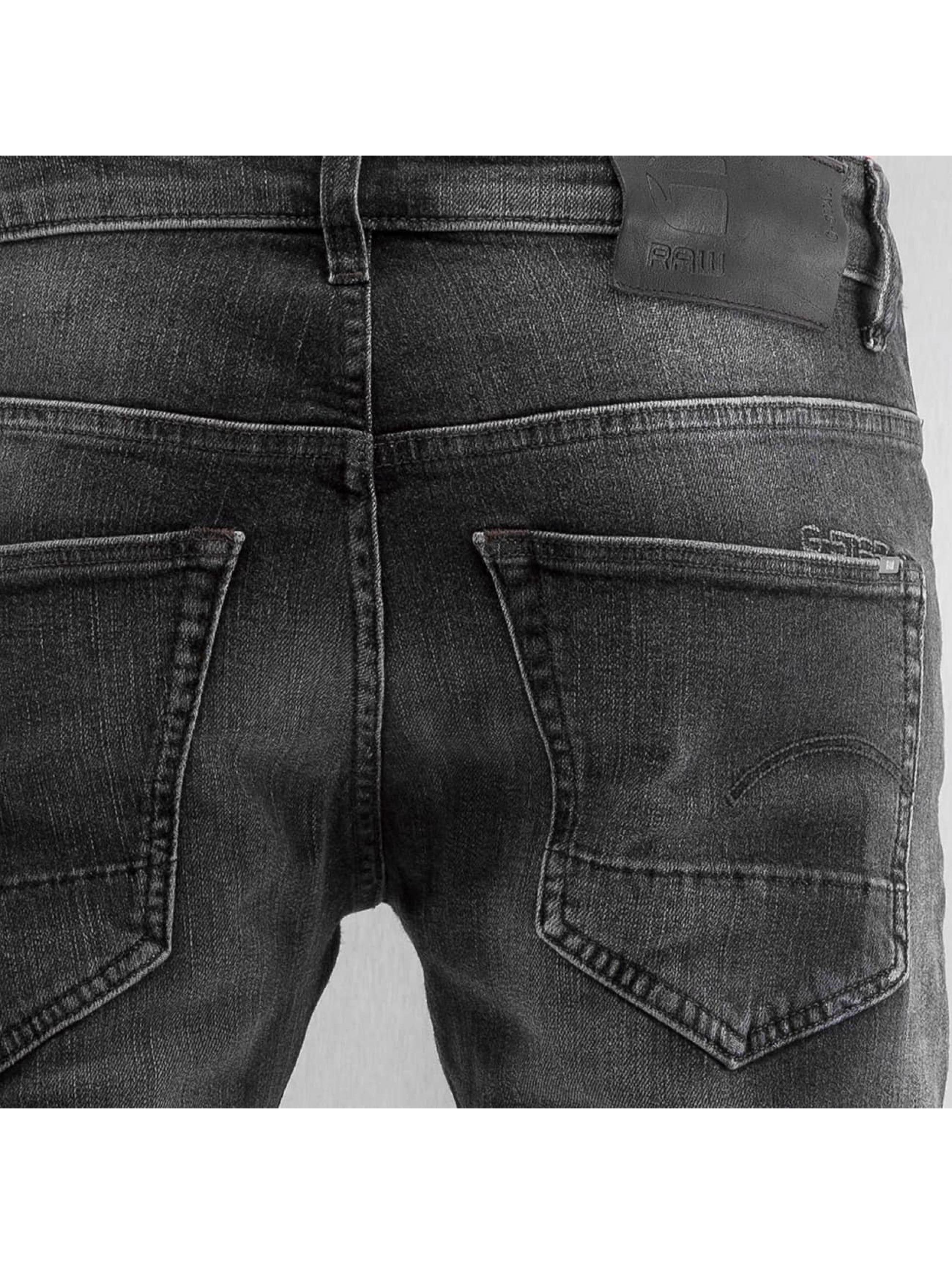 G-Star Skinny jeans 3301 Slim Skop Black Strech Denim grijs