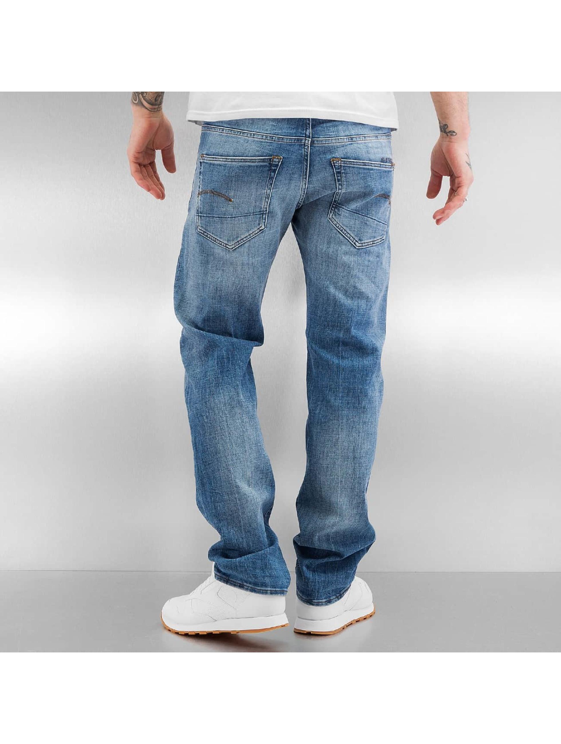G-Star Straight Fit Jeans 3301 Aiden Stretch blå