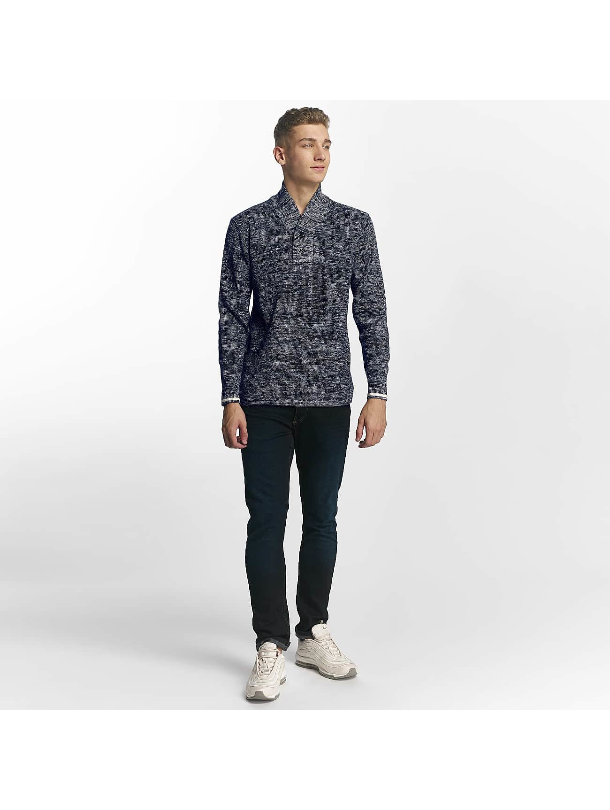 G-Star Swetry Dadin Shawl Collar niebieski
