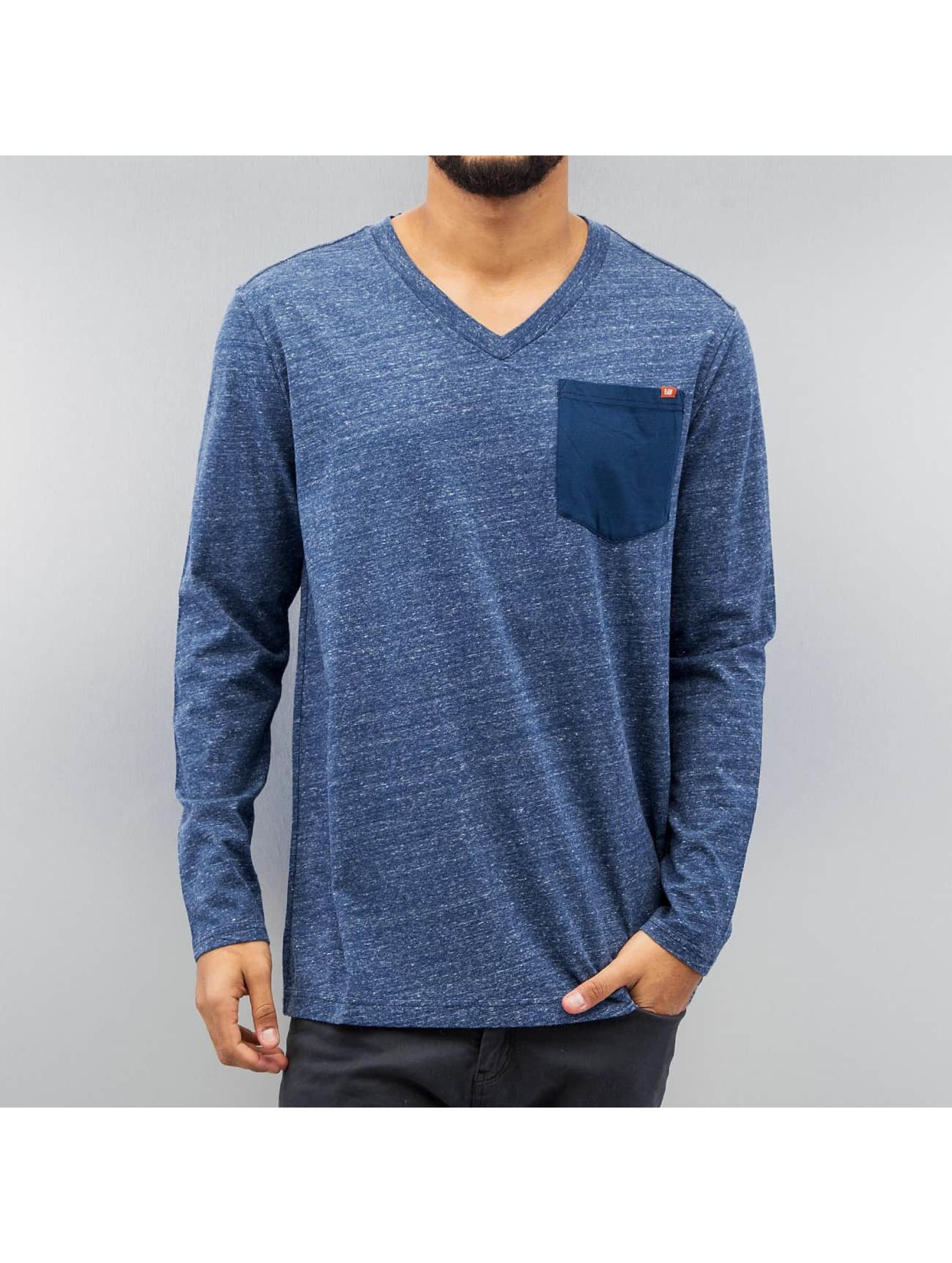 G-Star T-Shirt manches longues Riban Pocket Premium Compact Jersey bleu