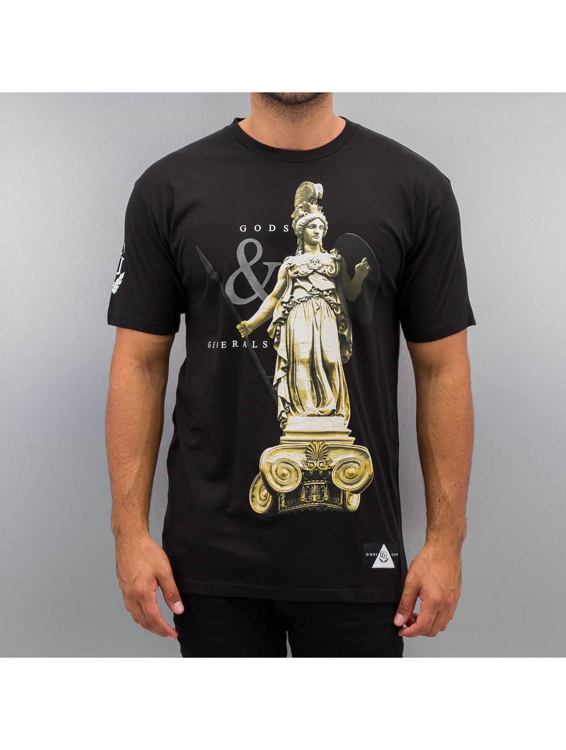 Gods & Generals T-skjorter Athena svart