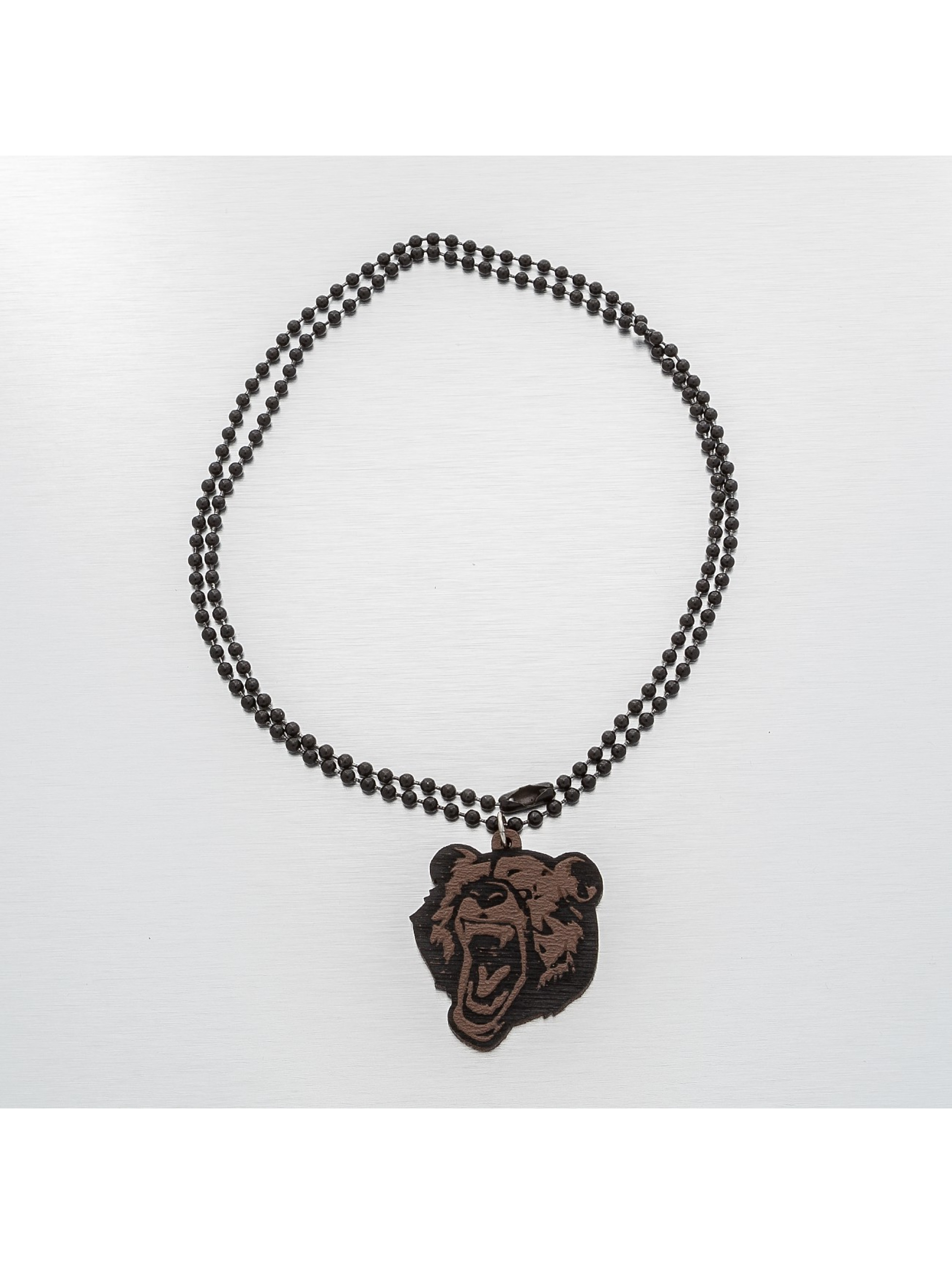Good Wood NYC Collier NYC Micro Grizzly brun