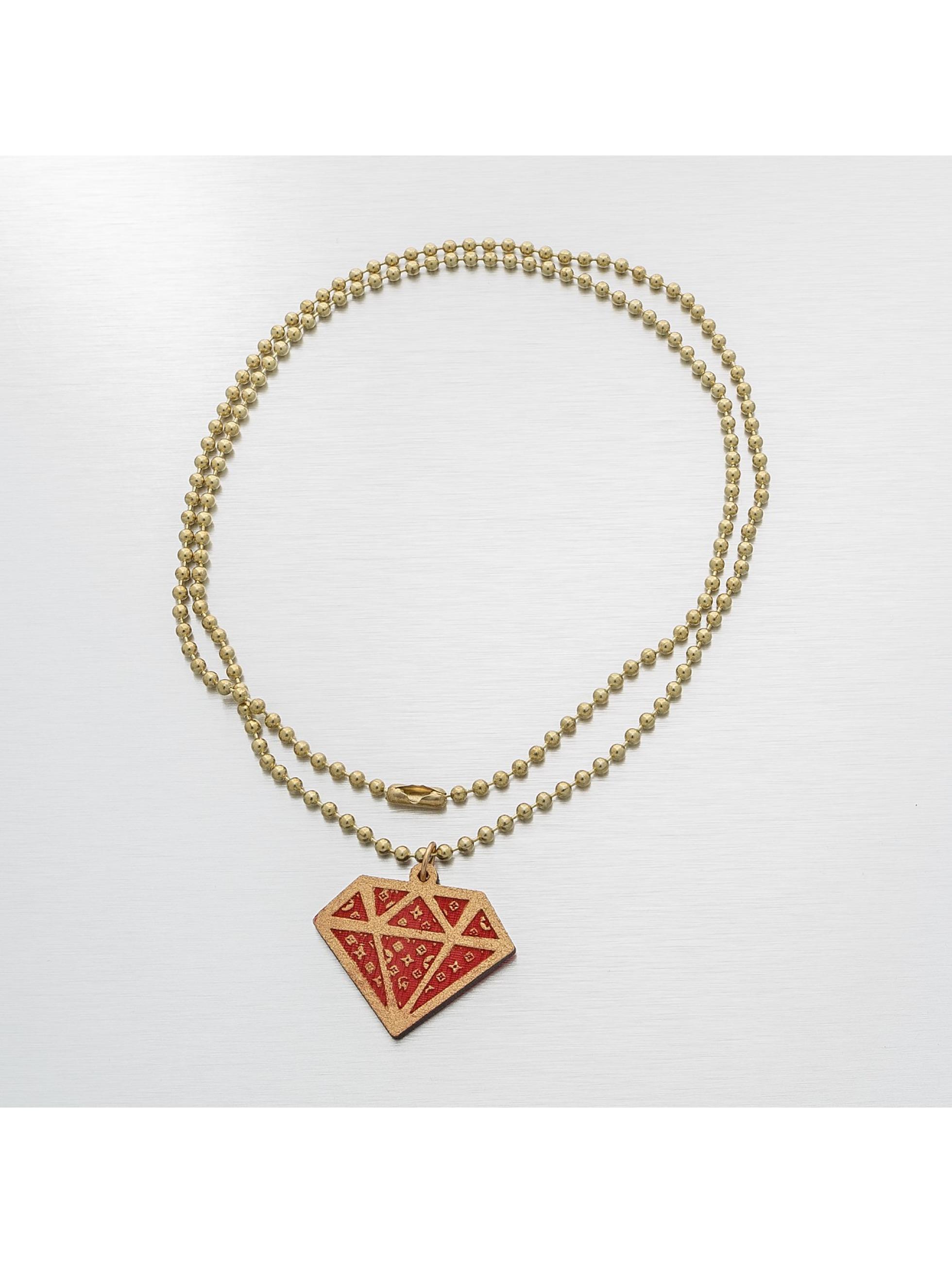 Good Wood NYC ketting NYC Micro Diamond Mono rood