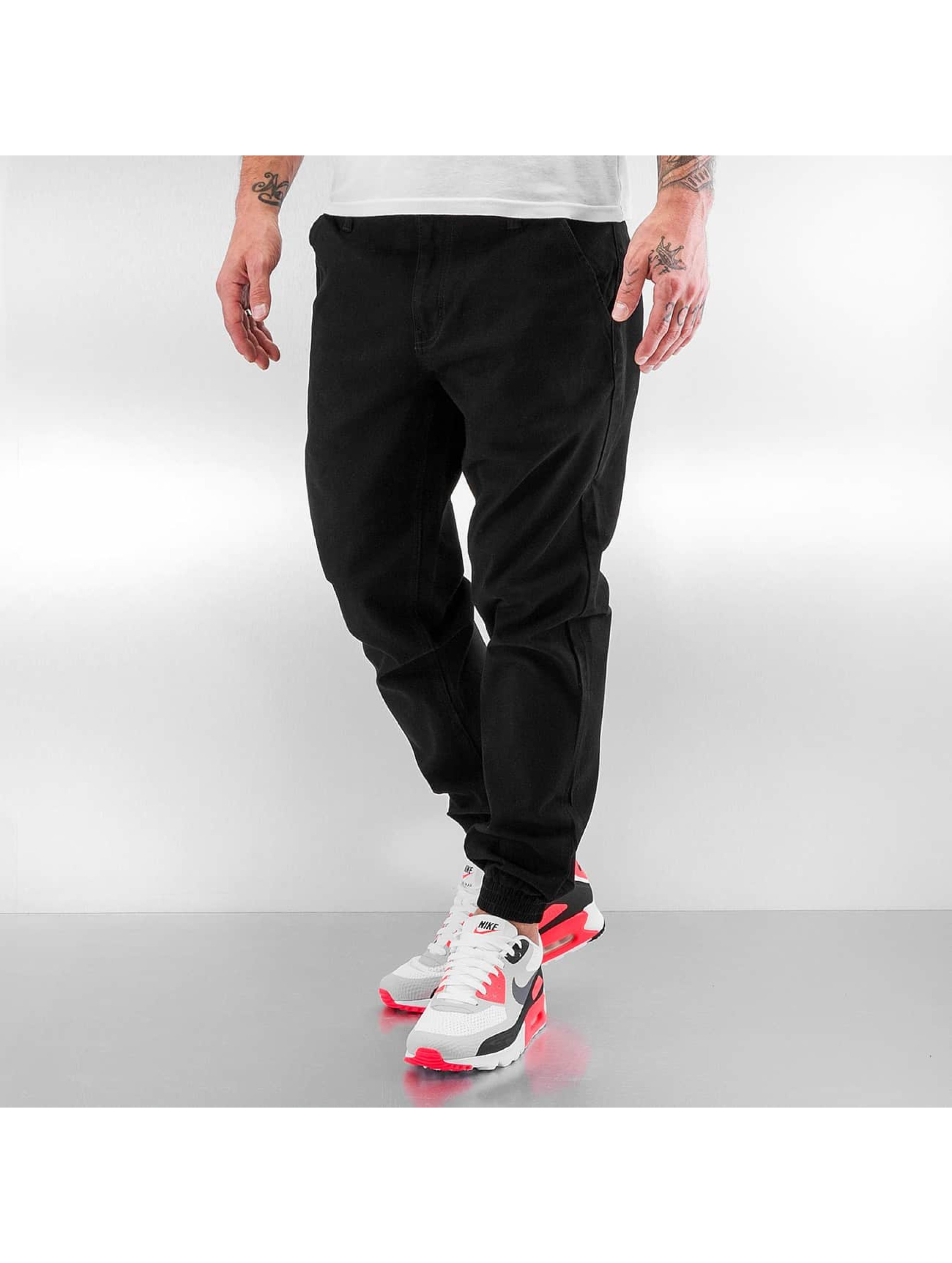 Grimey Wear Joggingbyxor Twill Peach svart