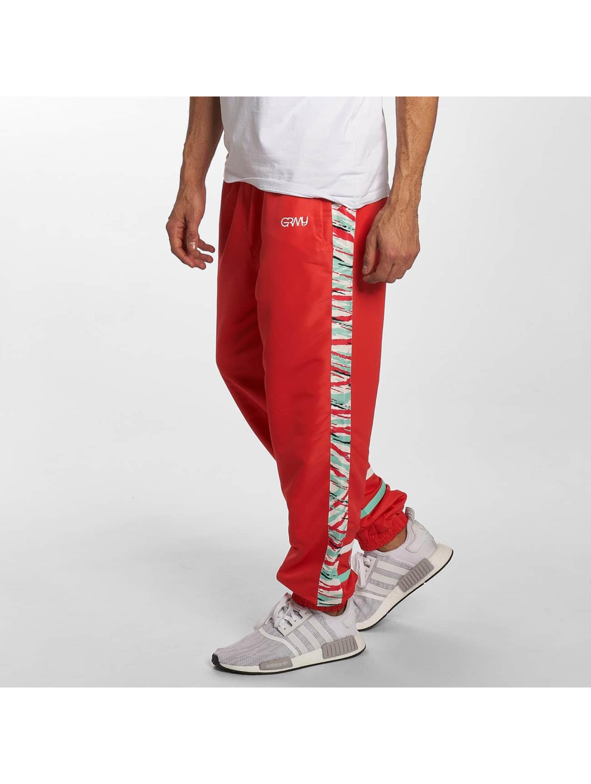 Grimey Wear Pantalón deportivo Mangusta V8 rojo
