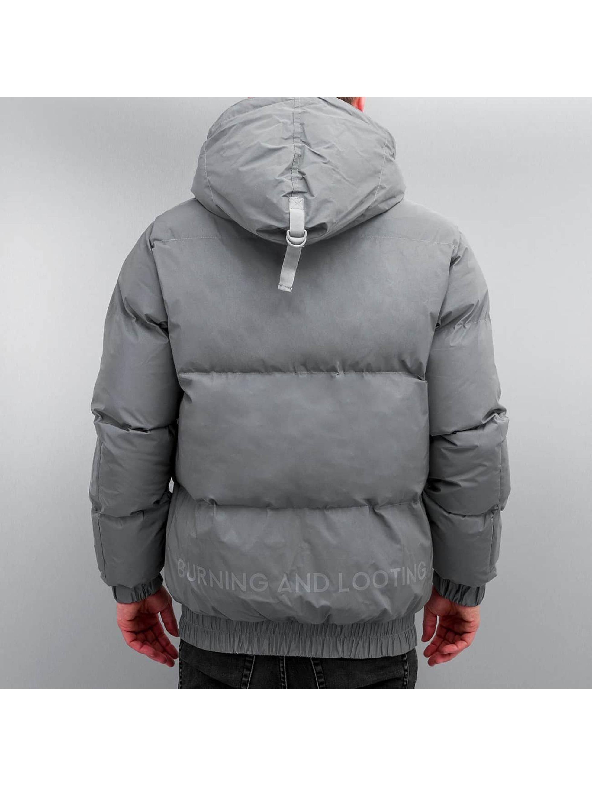 Grimey Wear Puffer Jacket Fire Eater grey
