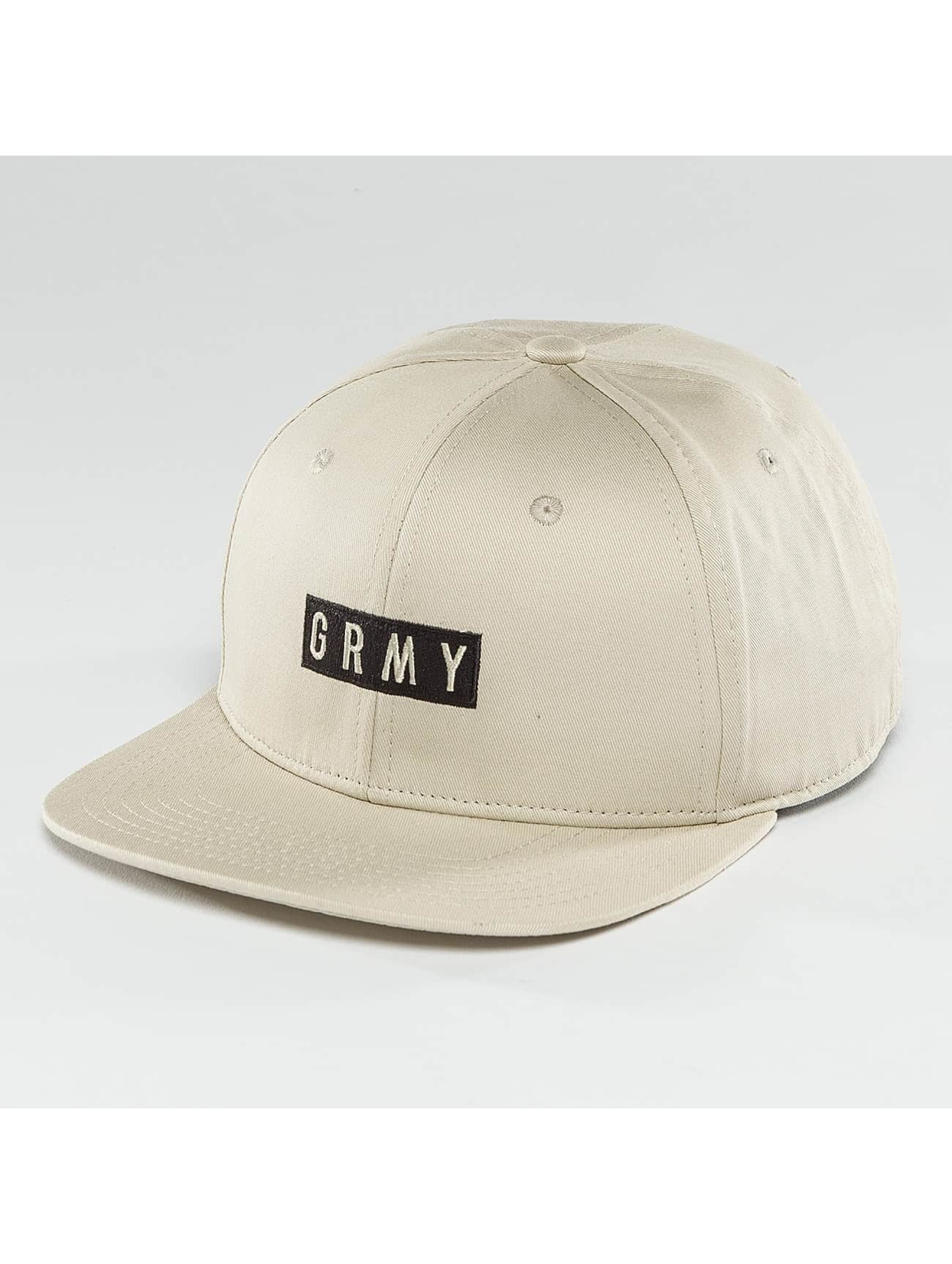 Grimey Wear Snapback Cap Overcome Gravity beige