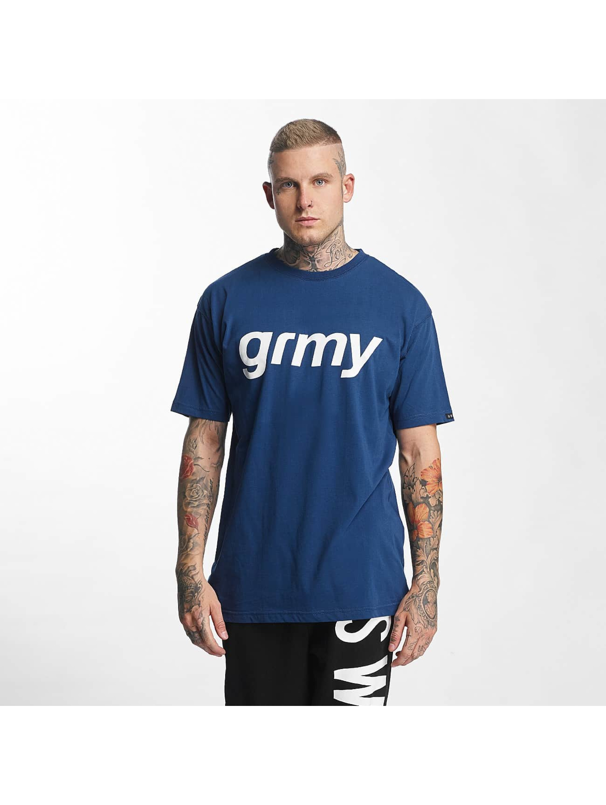 Grimey Wear T-Shirt The Lucy Pearl blau