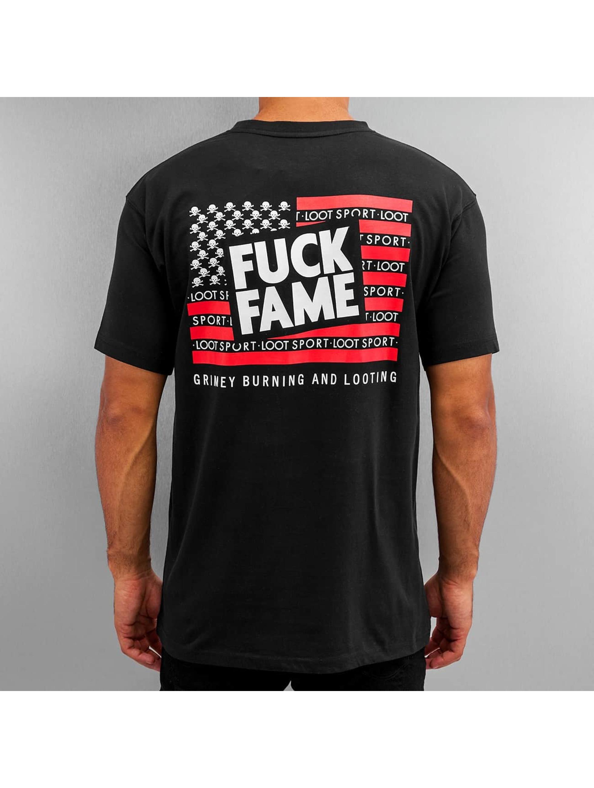 Grimey Wear T-Shirt Fuck Fame noir