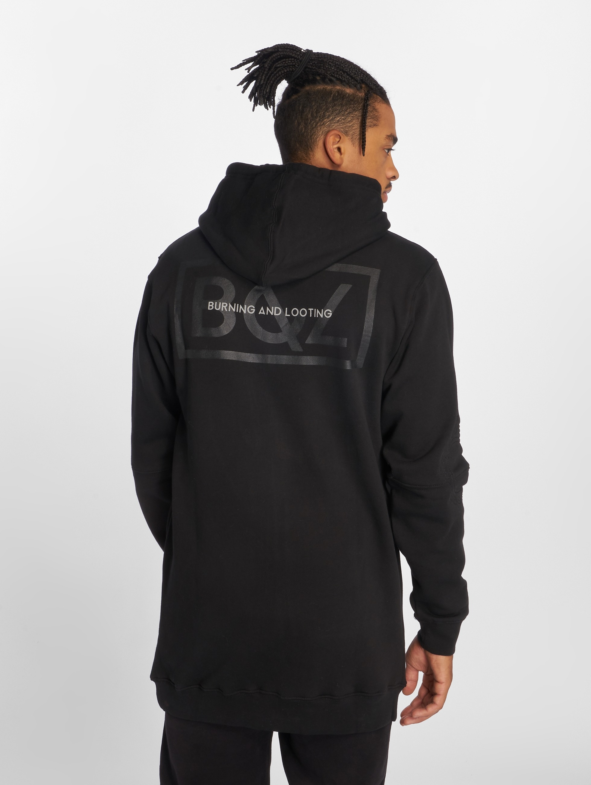 Grimey Wear Zip Hoodie Fire Eater Long èierna