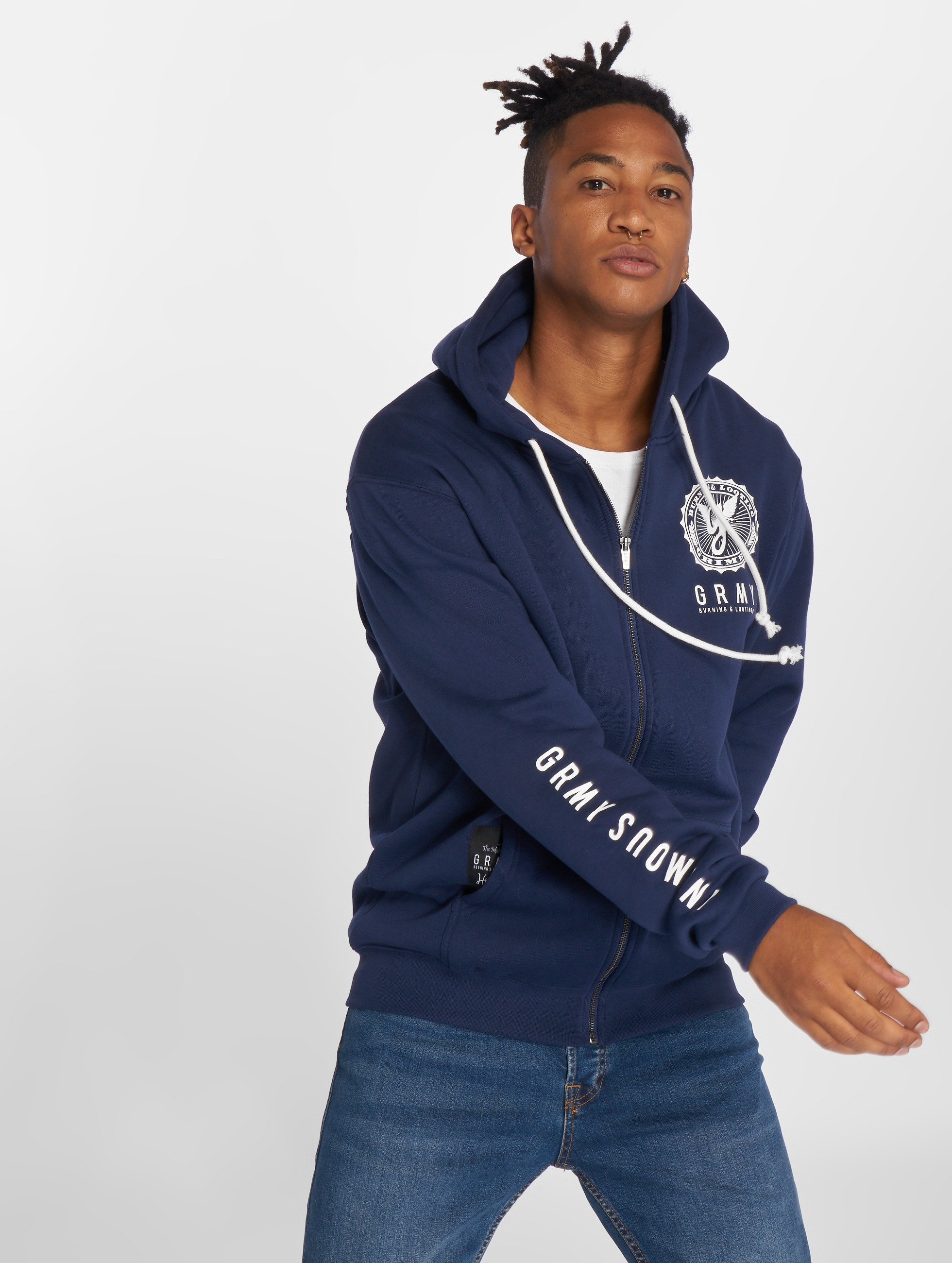 Grimey Wear Zip Hoodie Core blau