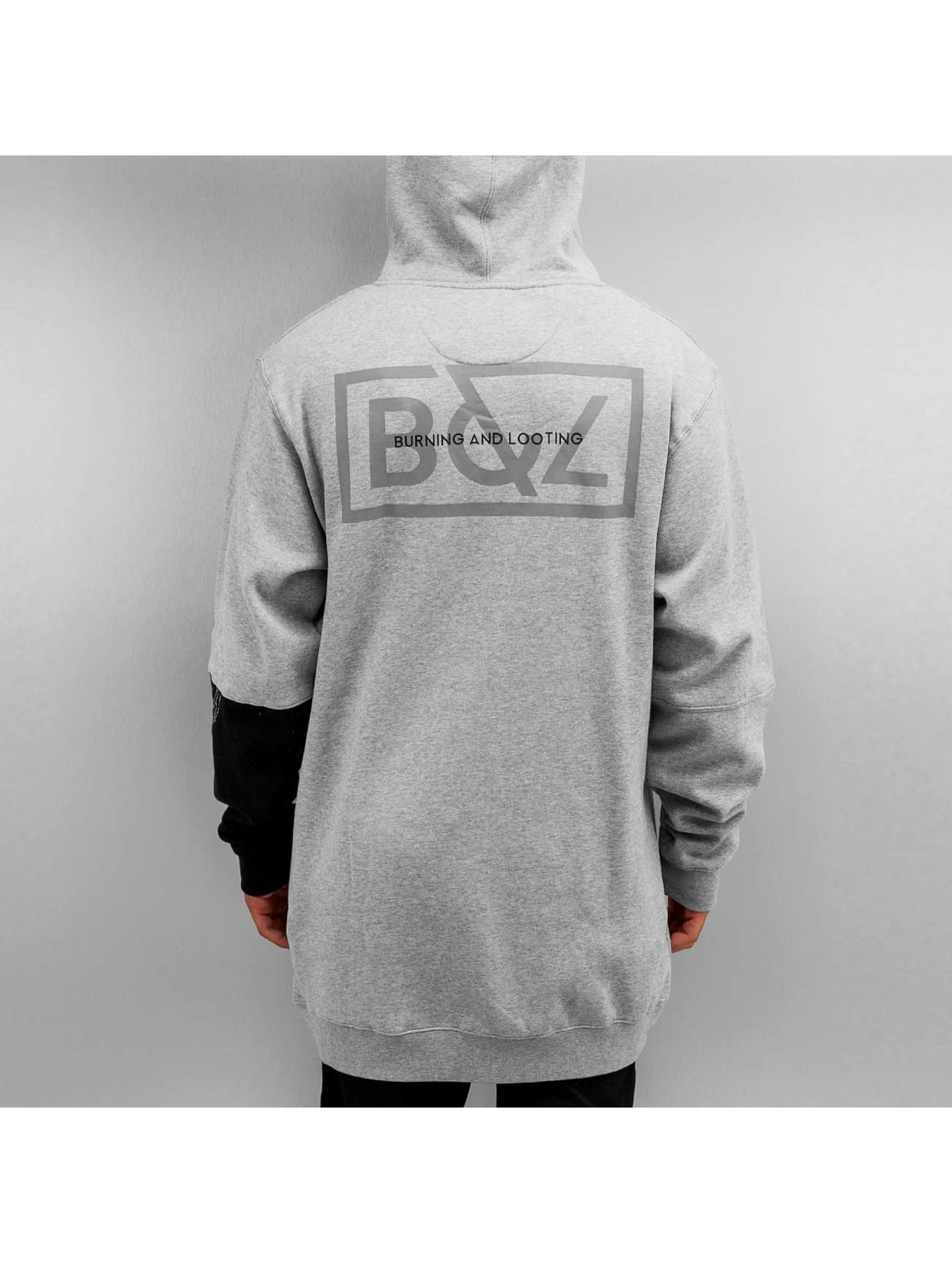 Grimey Wear Zip Hoodie Fire Eater Long gray
