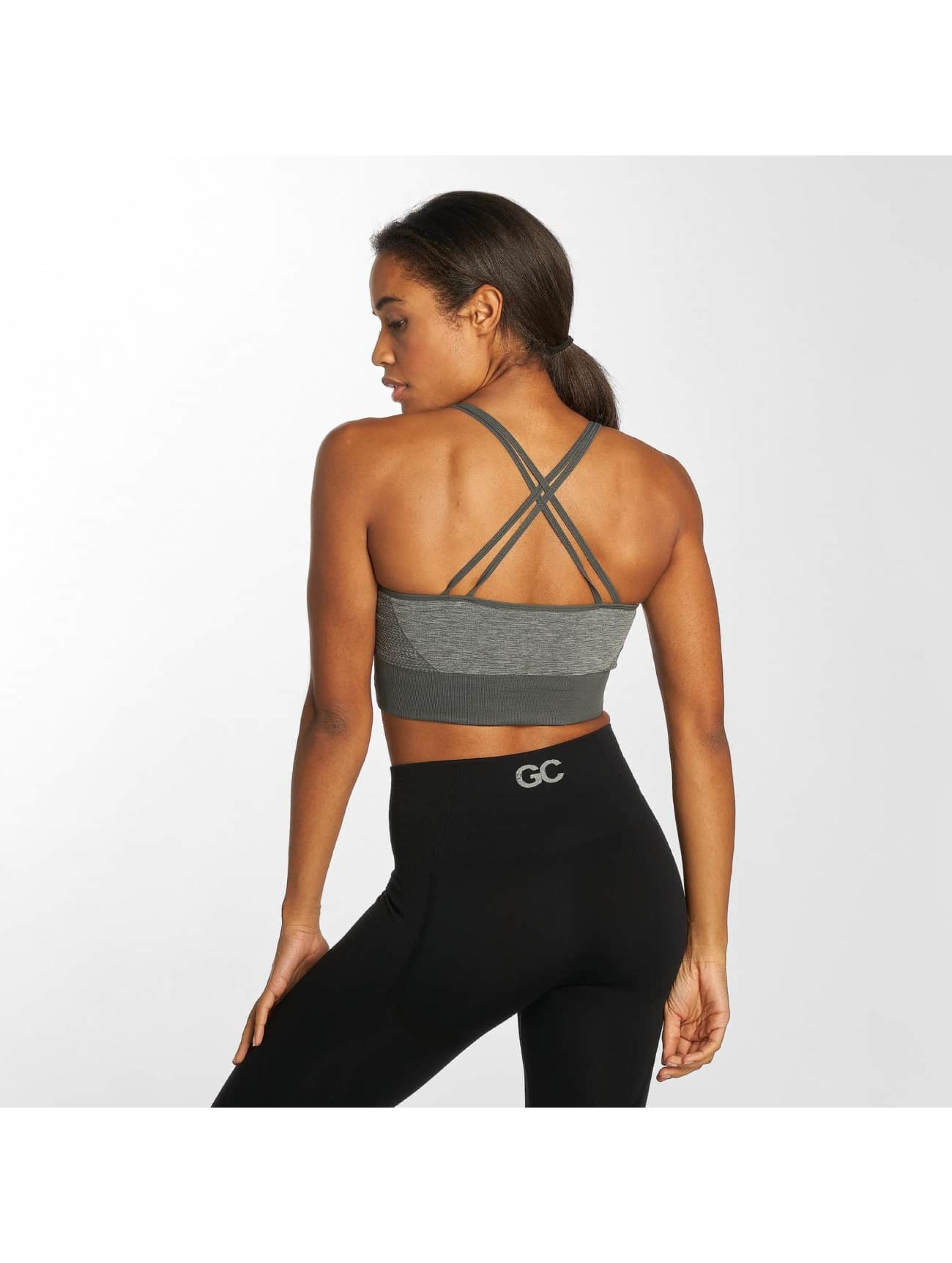 GymCodes Underwear Flex Cross Bra grå