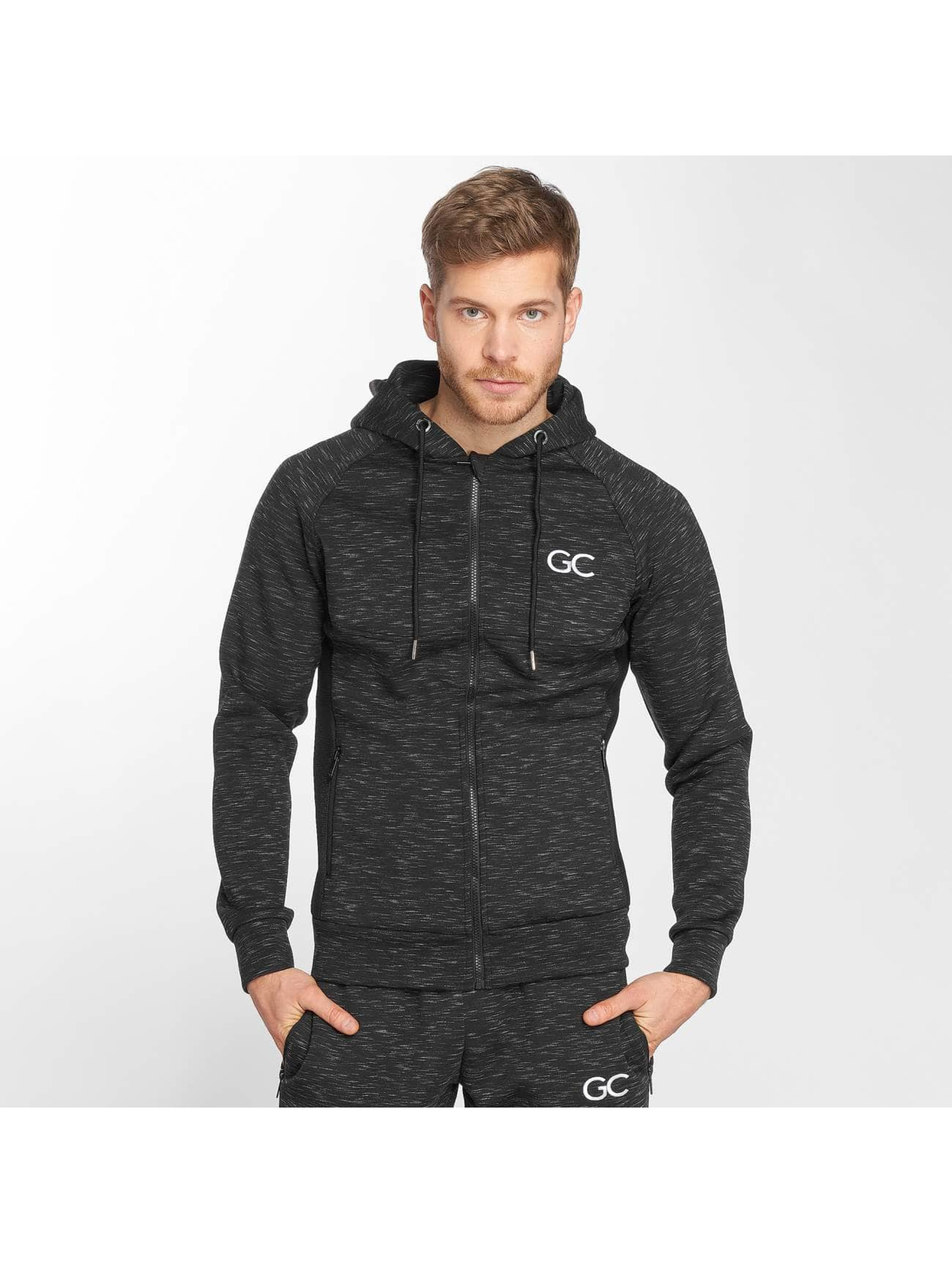 GymCodes Zip Hoodie Athletic-Fit èierna