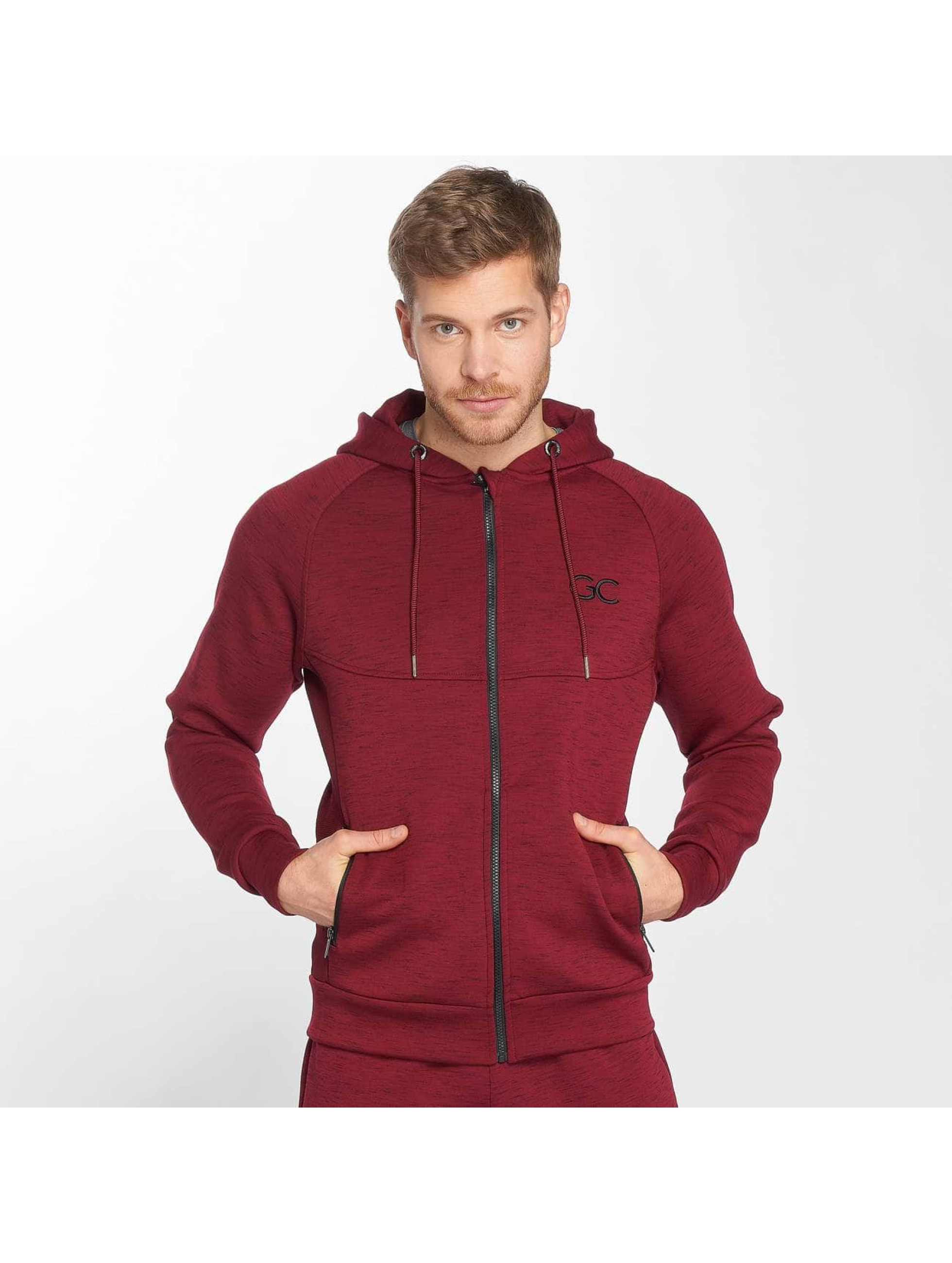 GymCodes Zip Hoodie Athletic-Fit czerwony