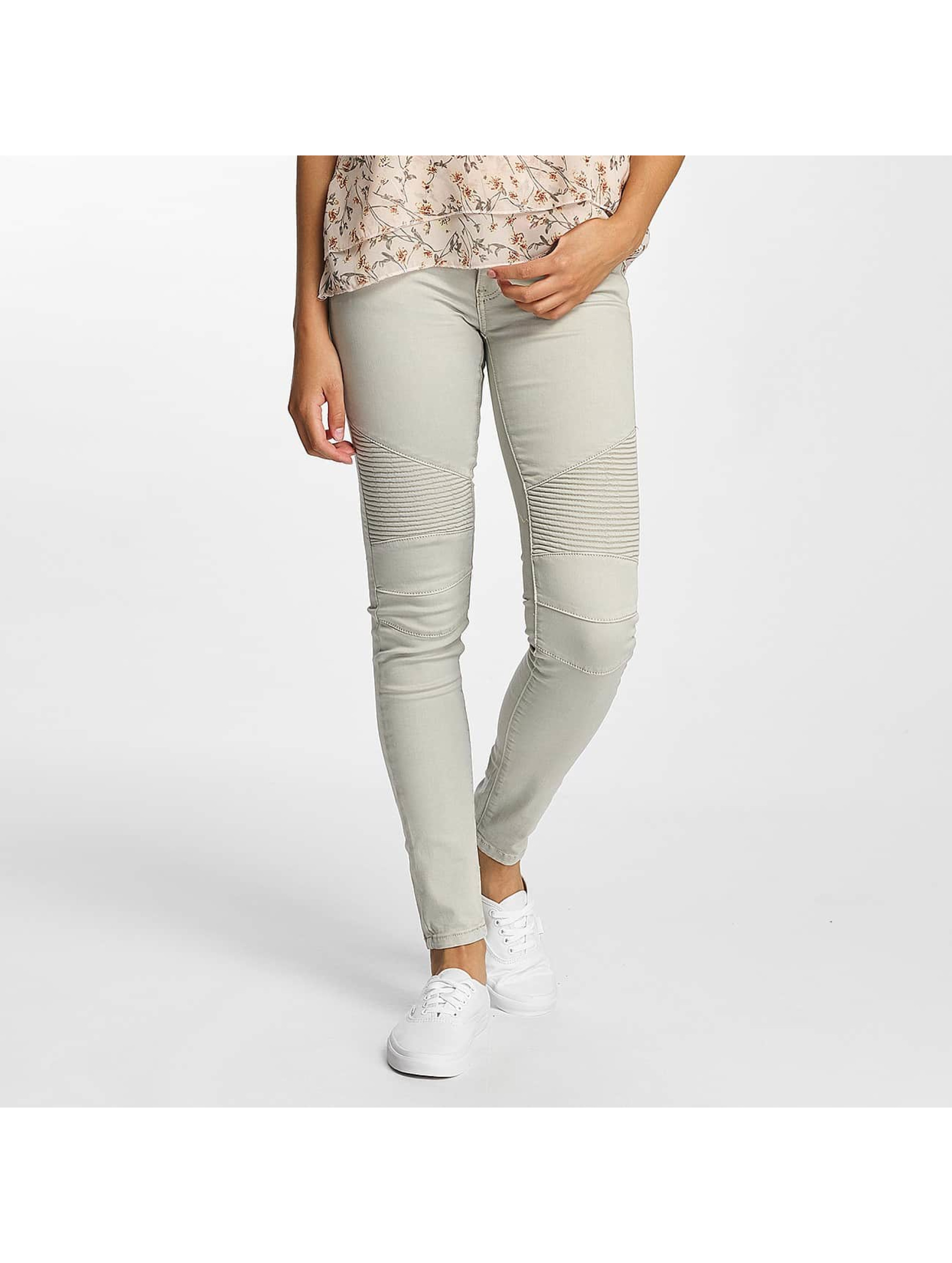 Hailys Облегающие джинсы Kina Biker серый