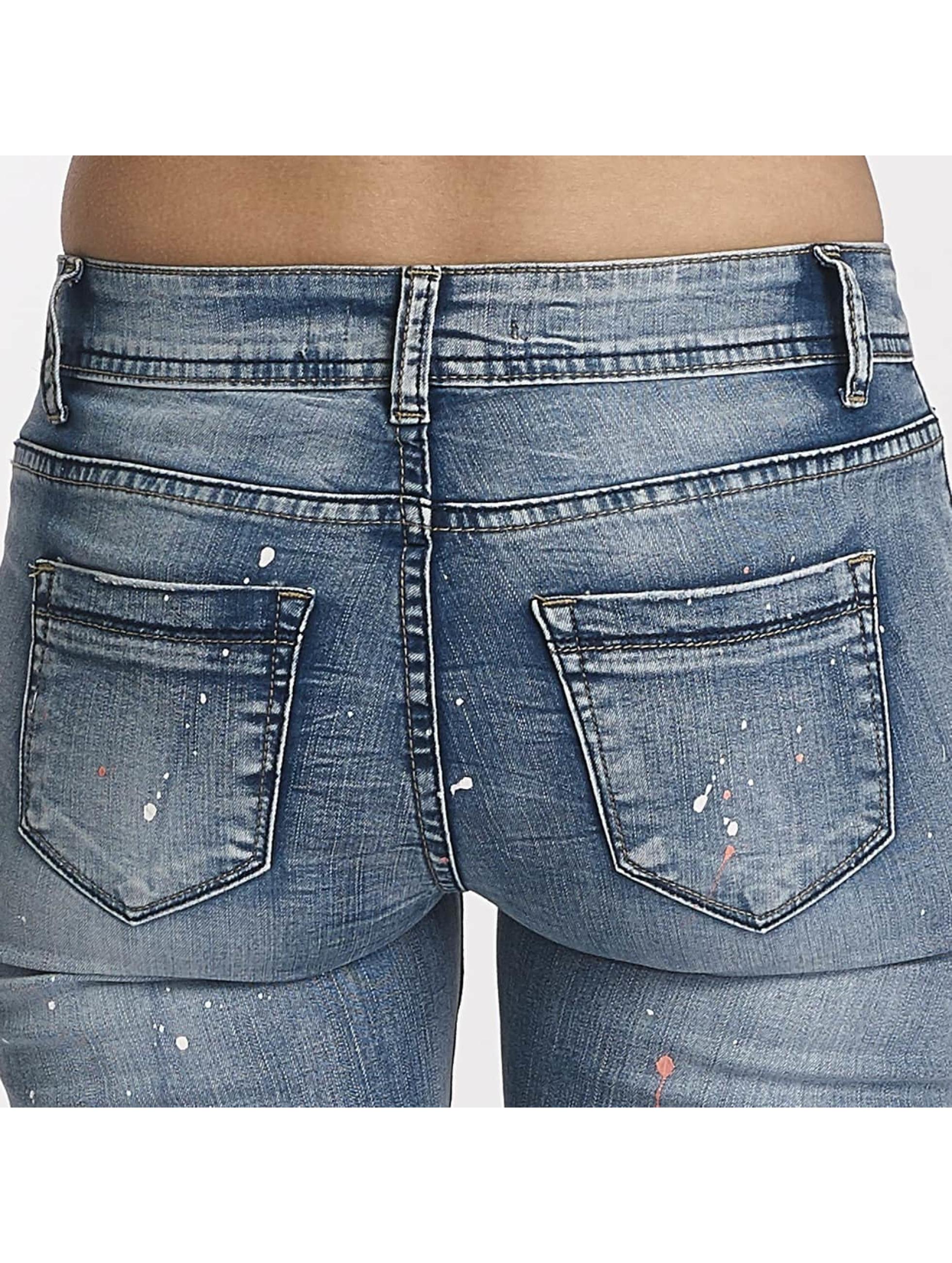 Hailys Облегающие джинсы Splashy синий