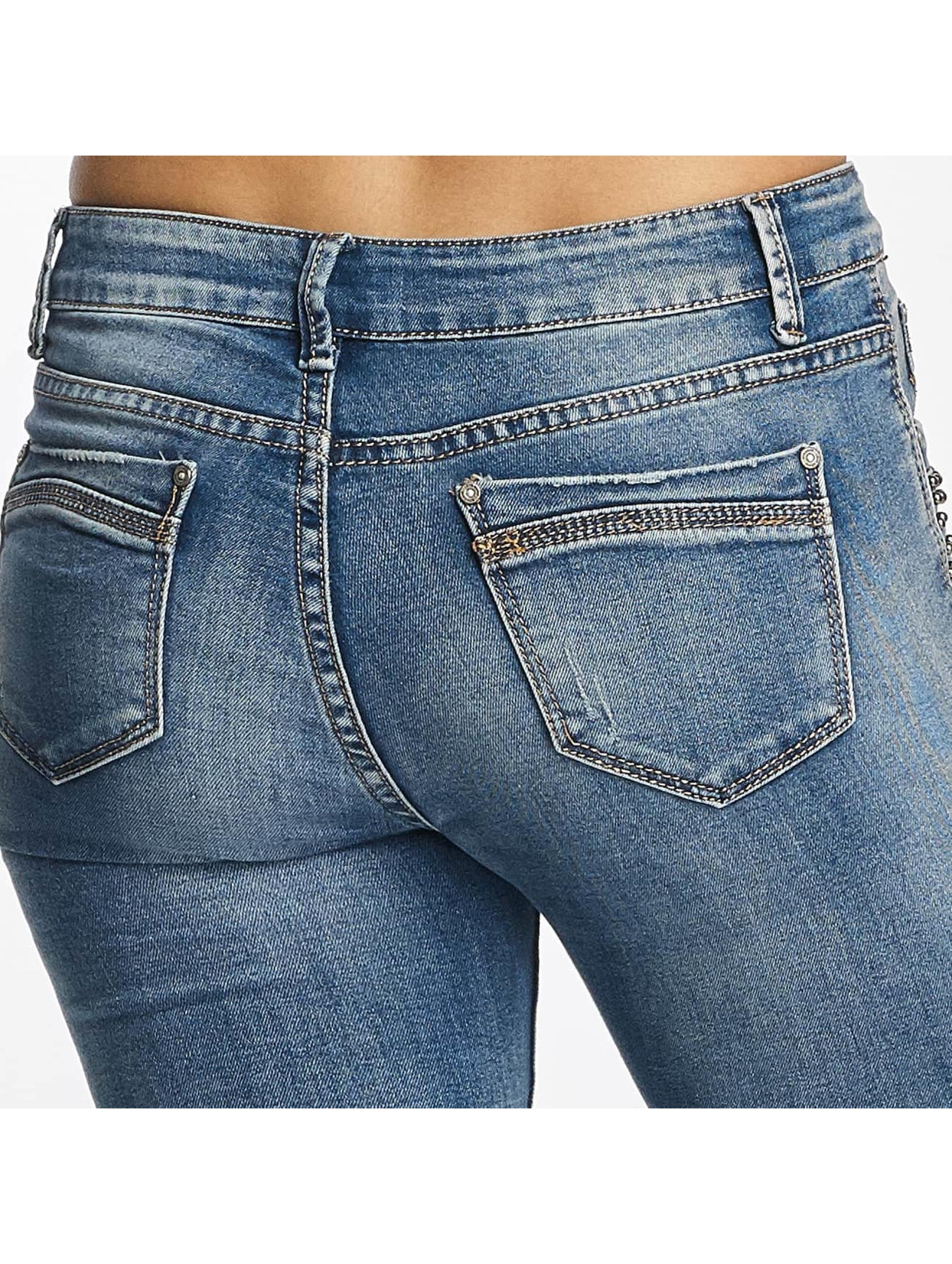 Hailys Облегающие джинсы Ines Destroyed синий
