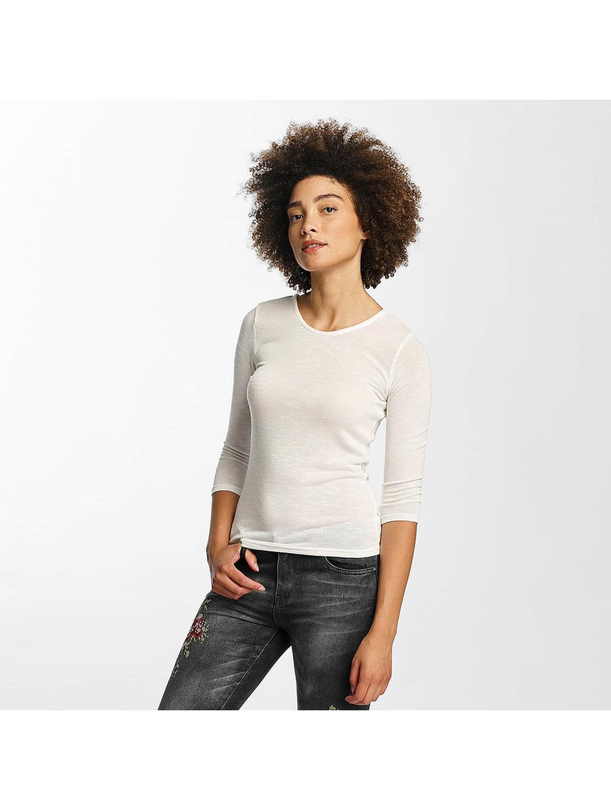 Hailys Пуловер jenny 3/4 Lace-Up белый