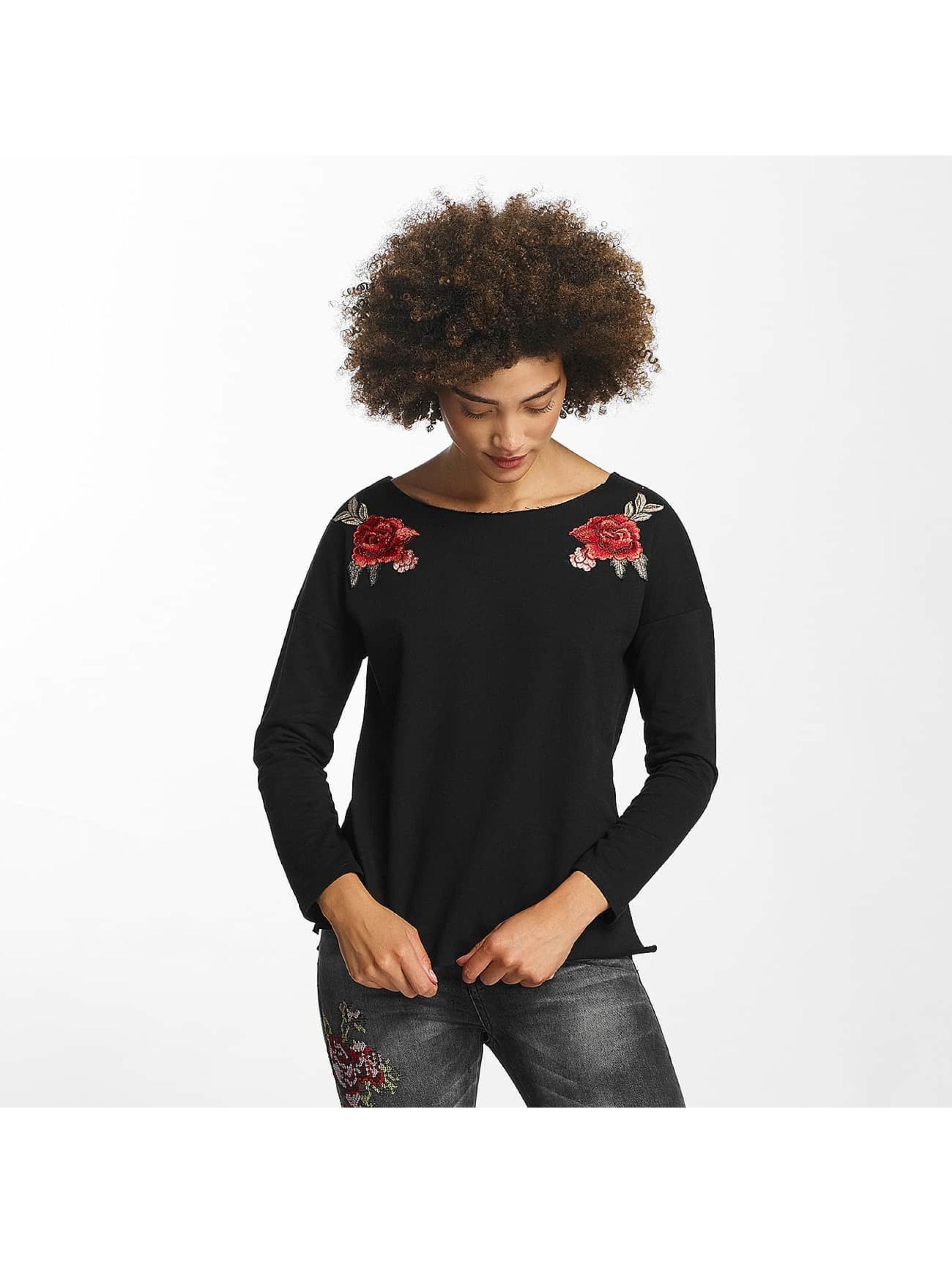Hailys Camiseta de manga larga Rosy negro