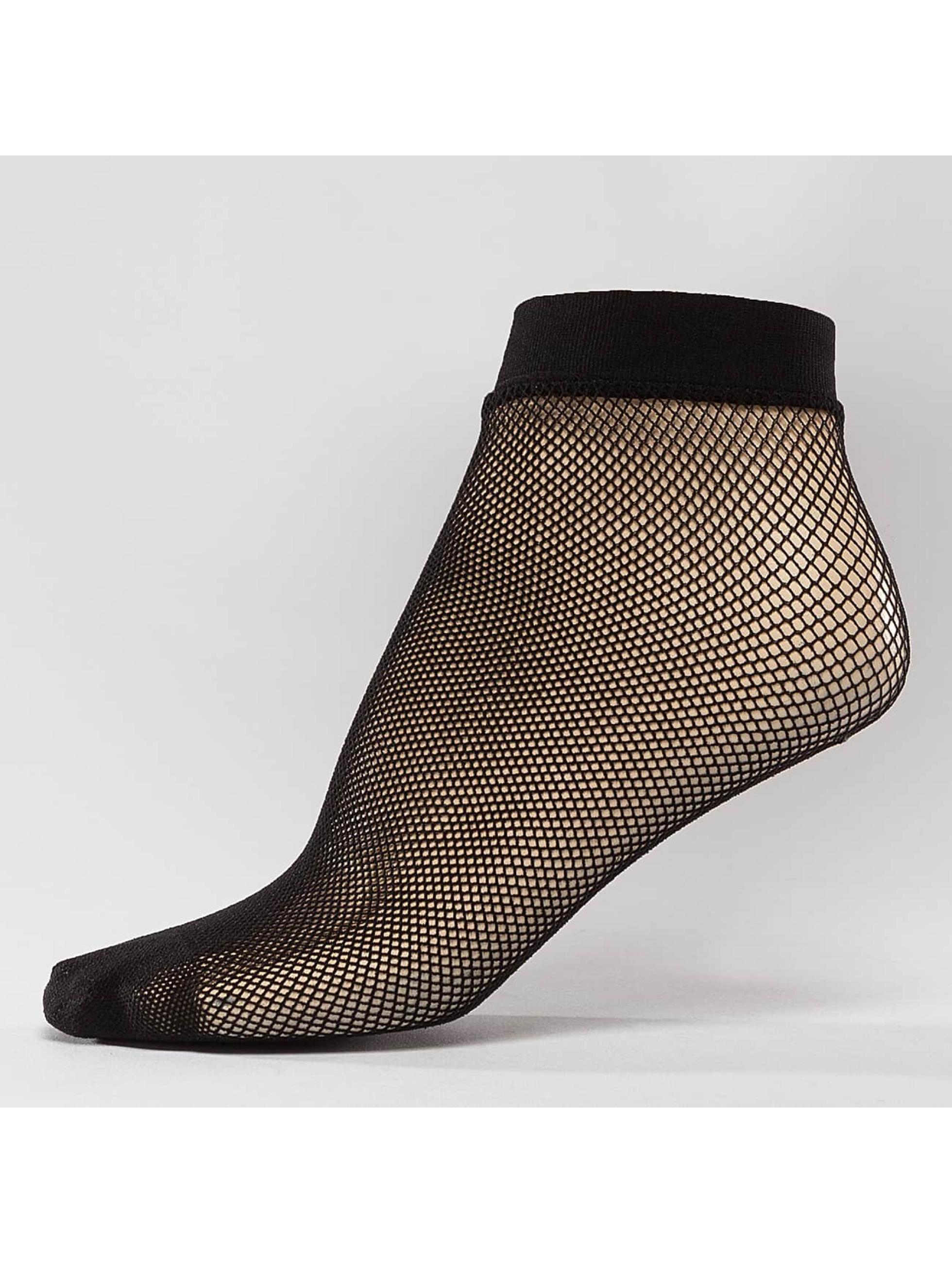 Hailys Chaussettes Fishnet noir