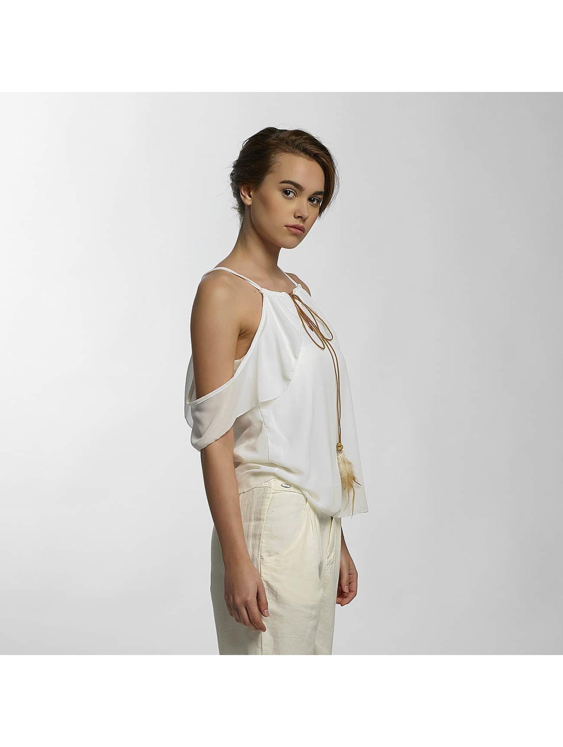 Hailys Hihattomat paidat Biannia valkoinen