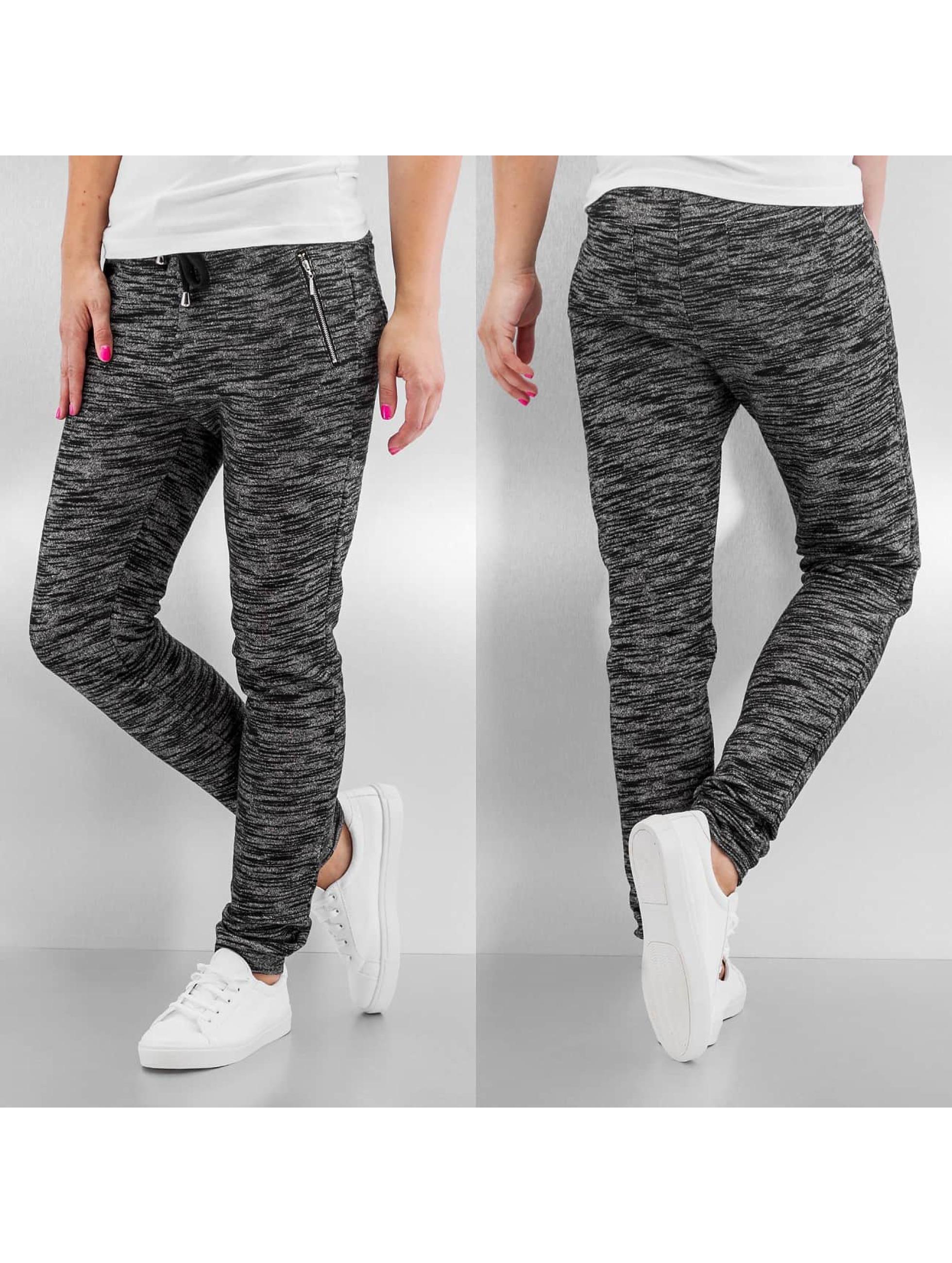 hailys moni gris femme jogging hailys acheter pas cher pantalon 282846. Black Bedroom Furniture Sets. Home Design Ideas