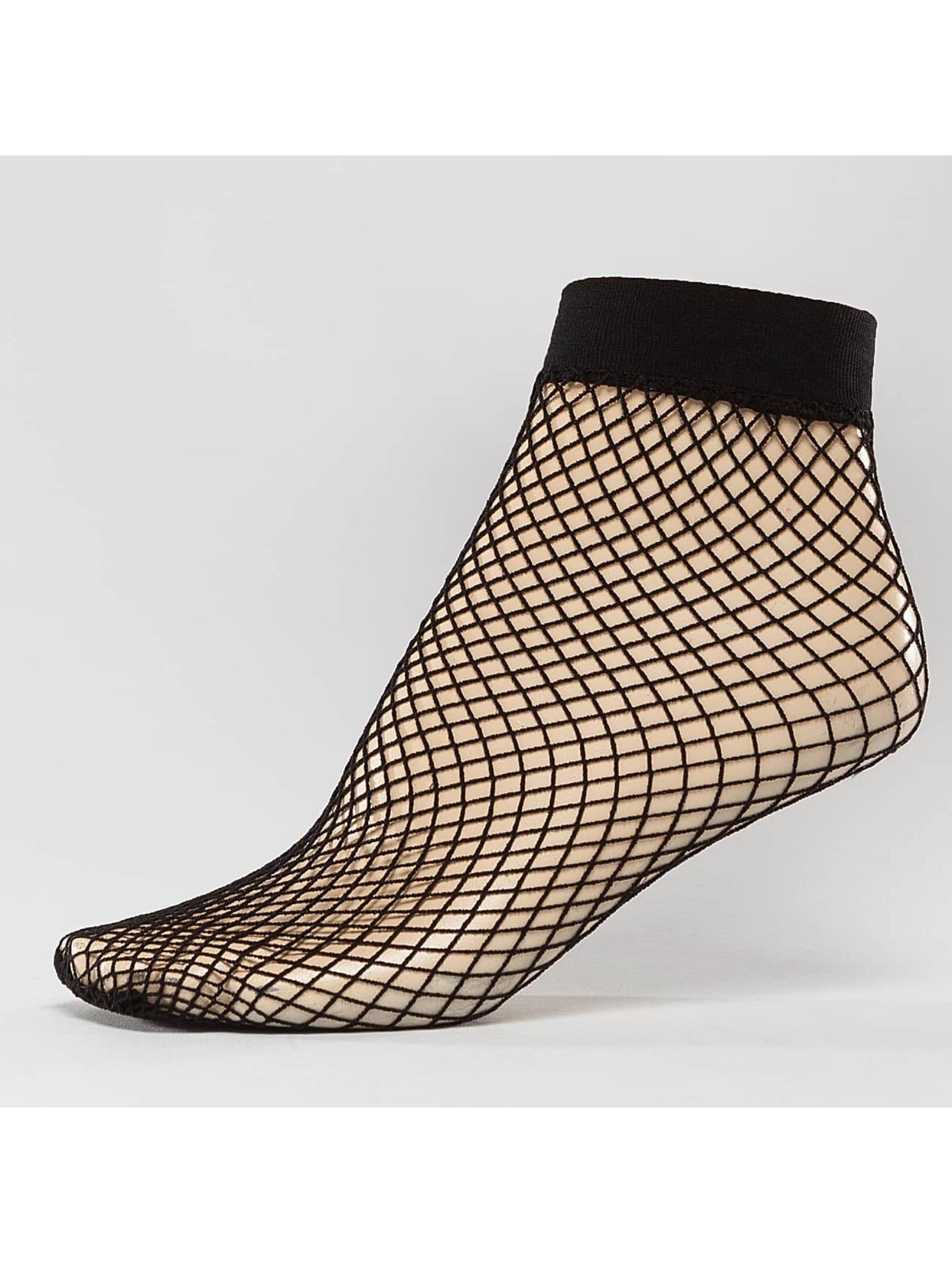 Hailys Ponožky Fishnet čern