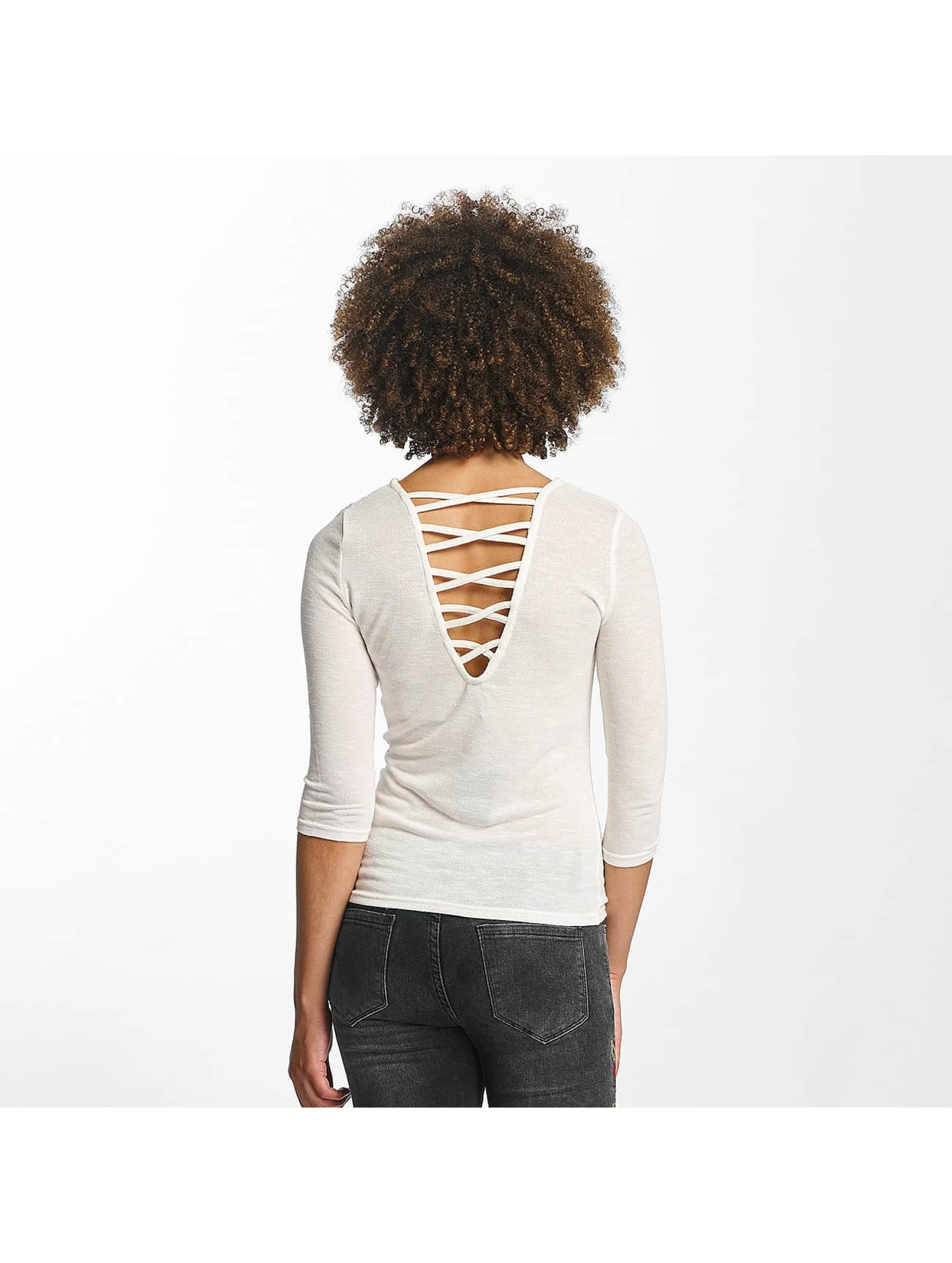 Hailys Pullover jenny 3/4 Lace-Up weiß