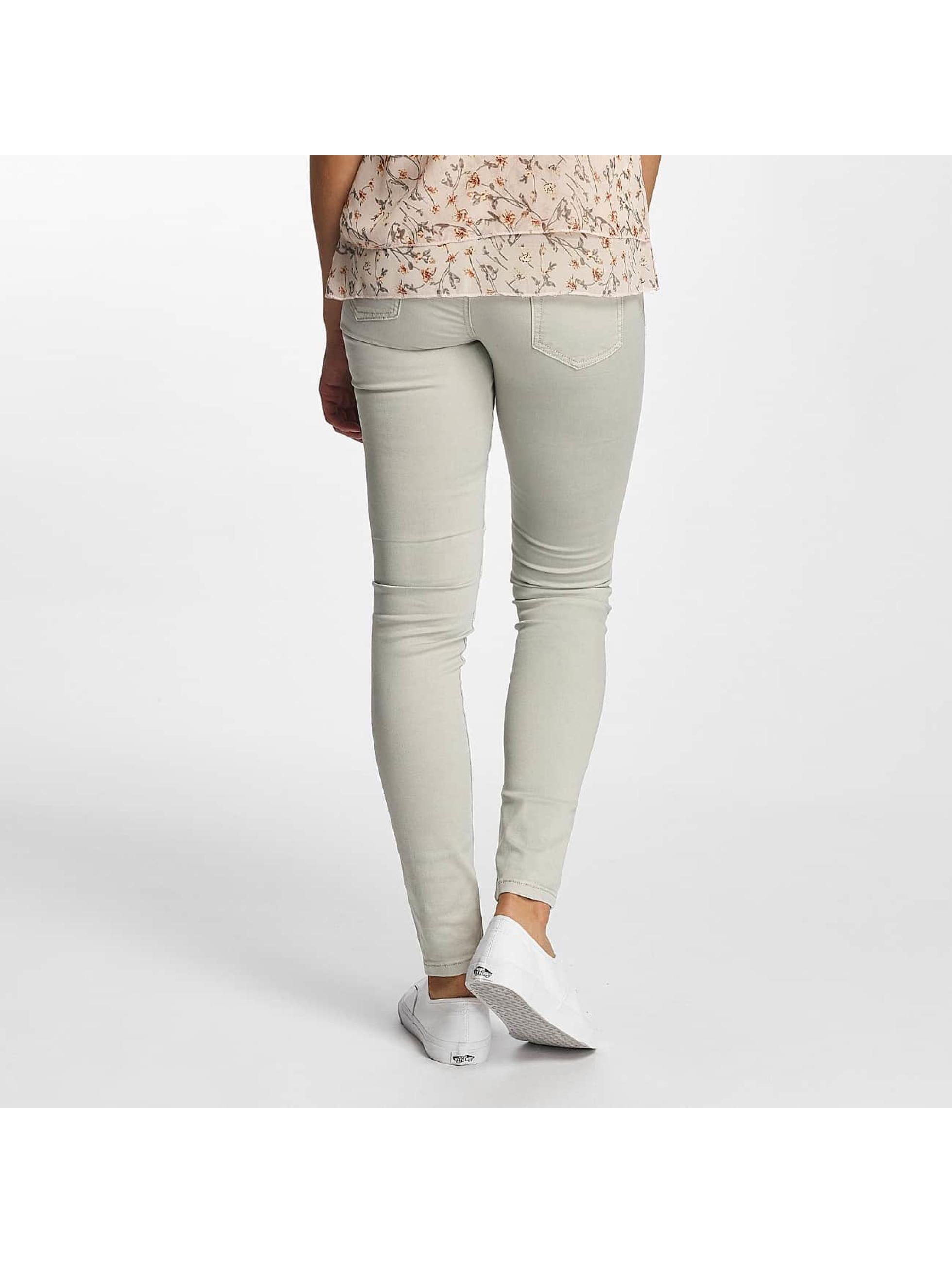 Hailys Skinny Jeans Kina Biker grau