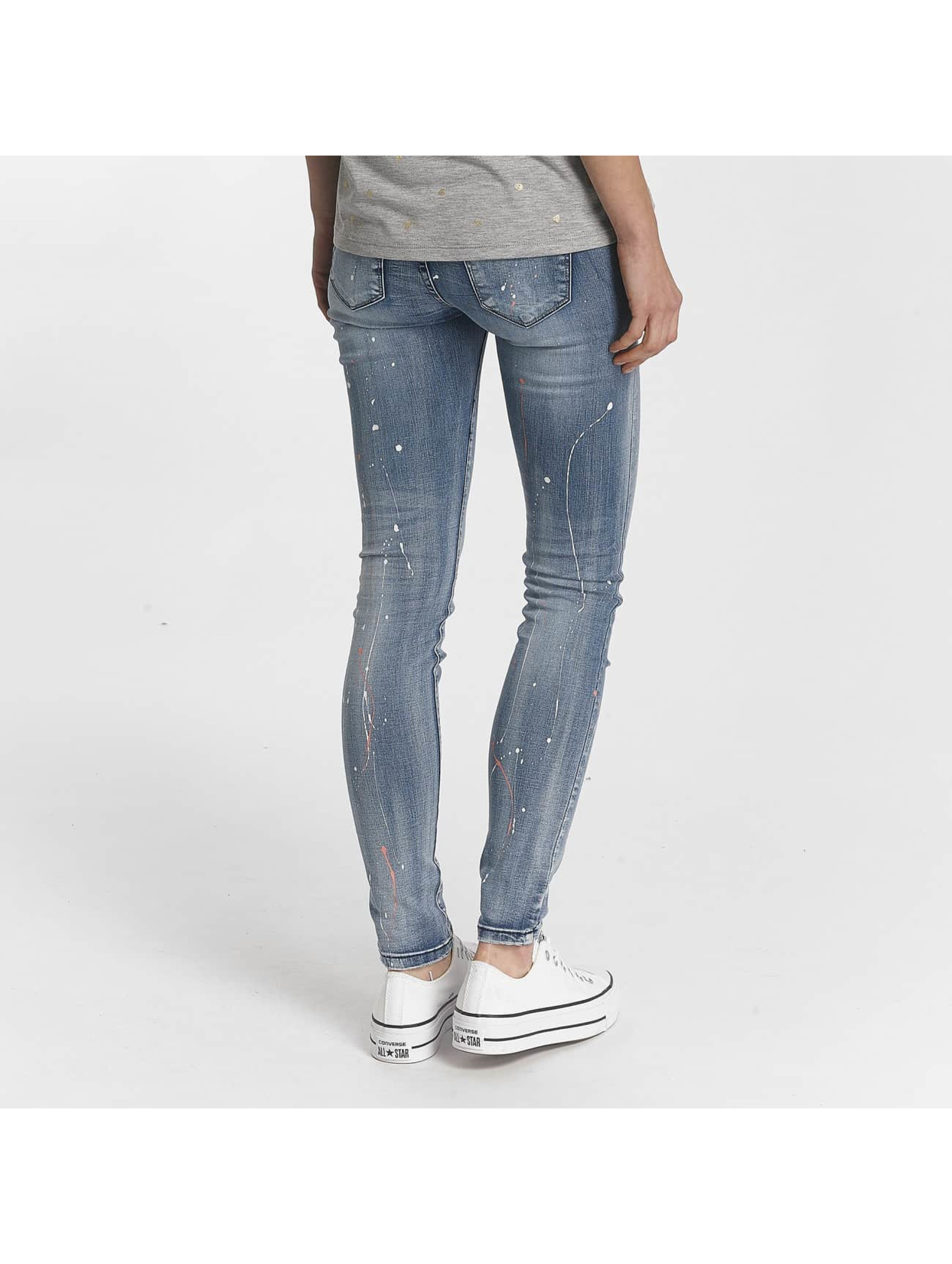 Hailys Skinny Jeans Splashy modrý