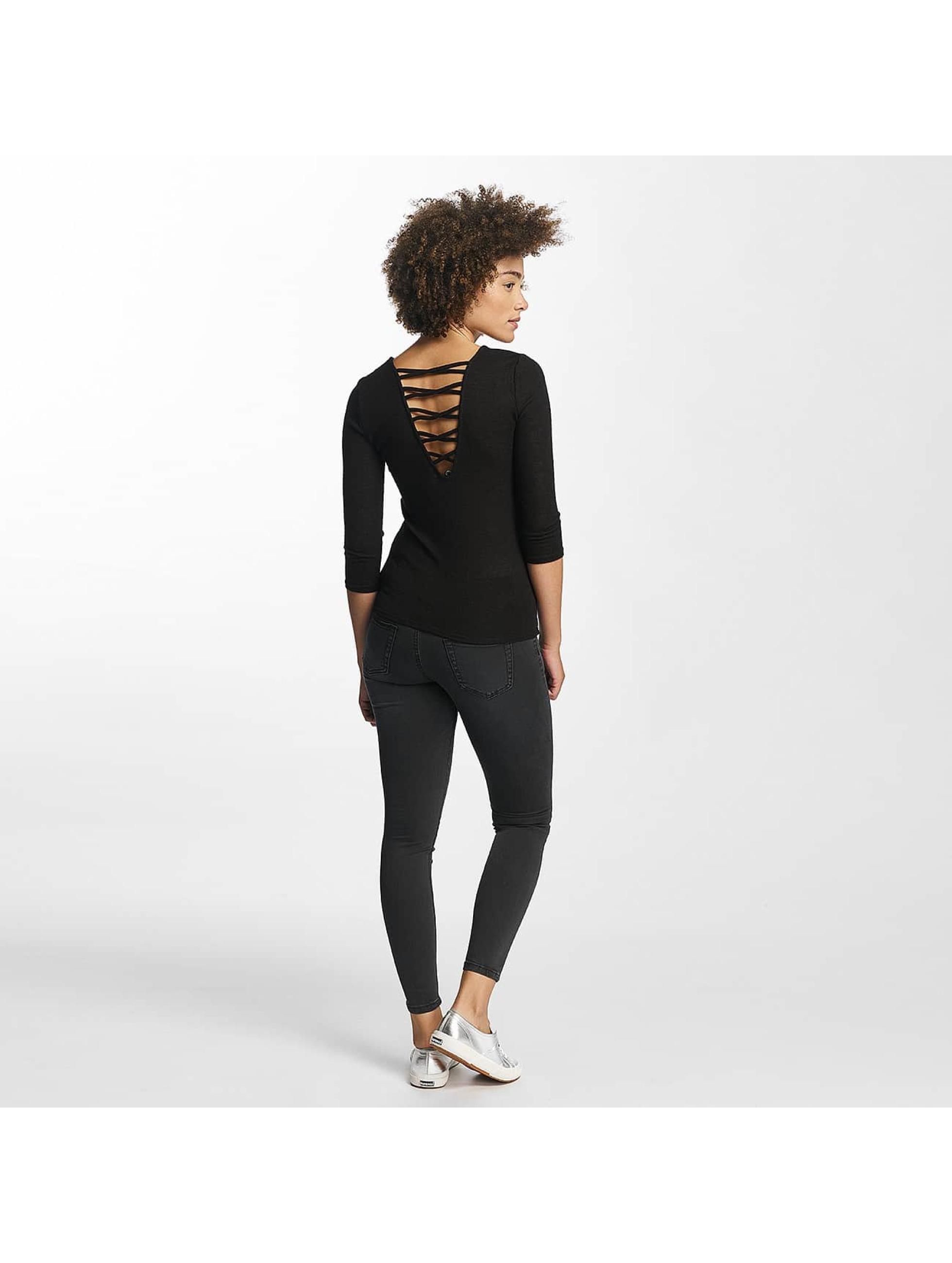 Hailys Sweat & Pull jenny 3/4 Lace-Up noir