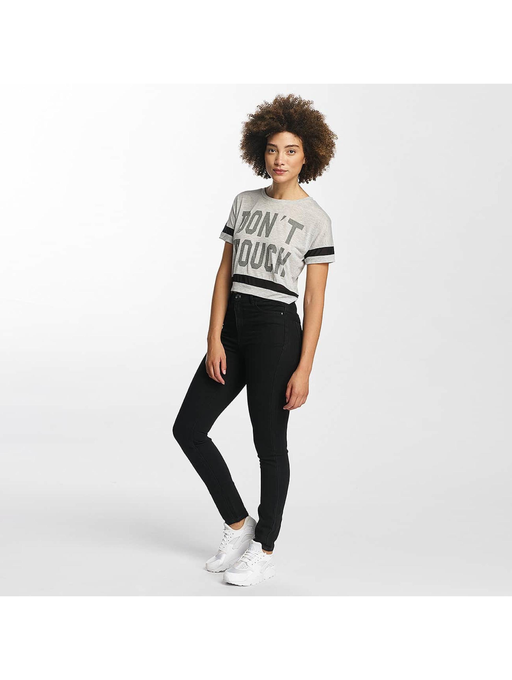 Hailys T-shirt Bonnie Cropped grigio